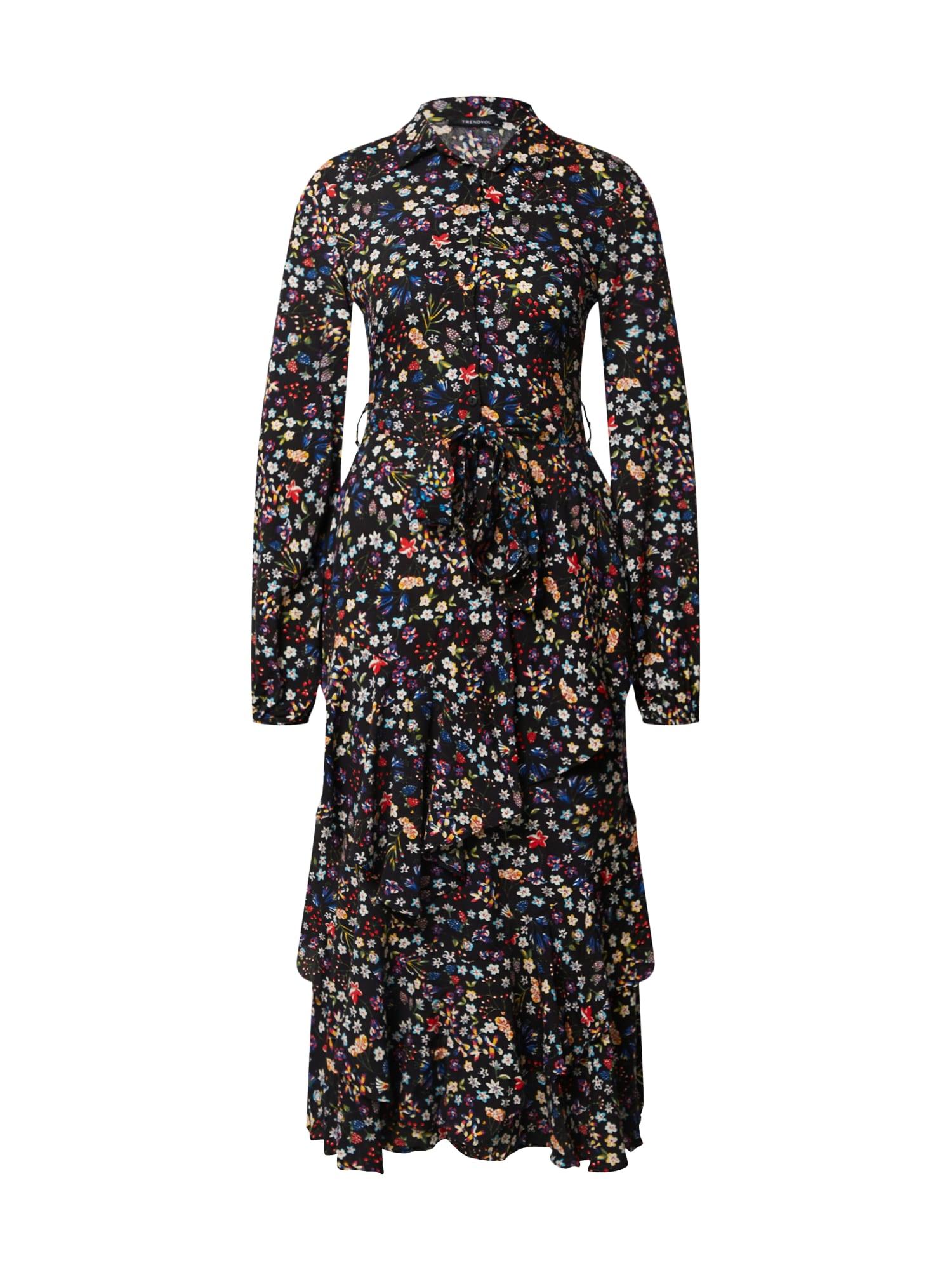 Trendyol Palaidinės tipo suknelė mišrios spalvos / juoda