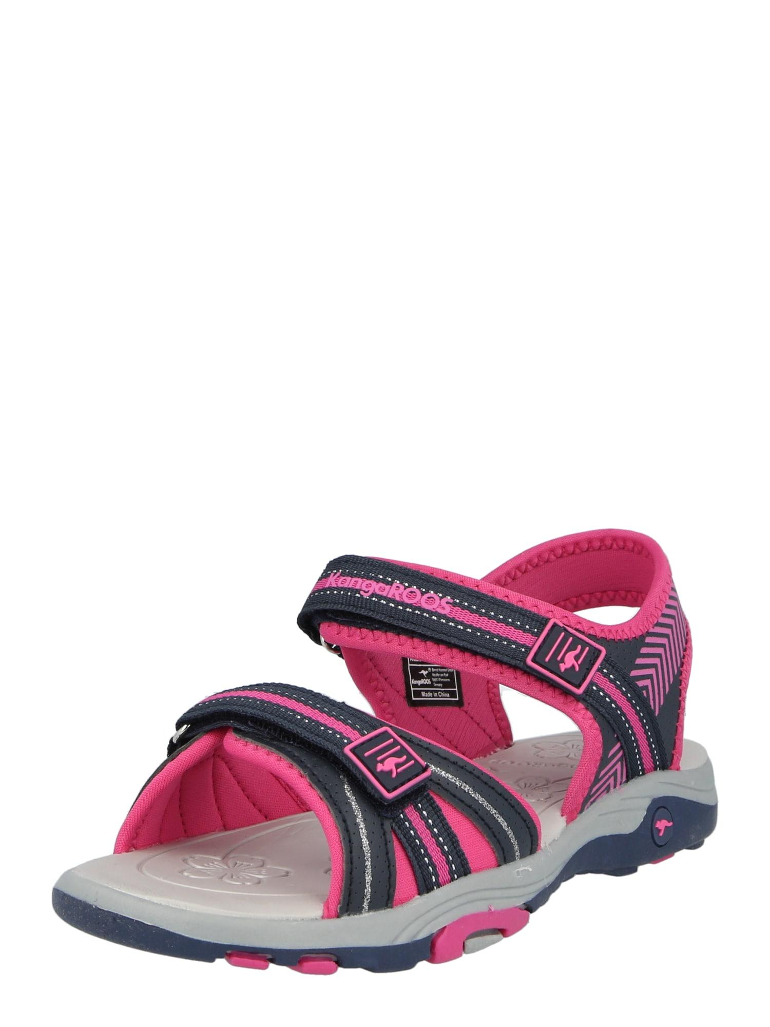 KangaROOS Sandalai tamsiai rožinė / mėlyna