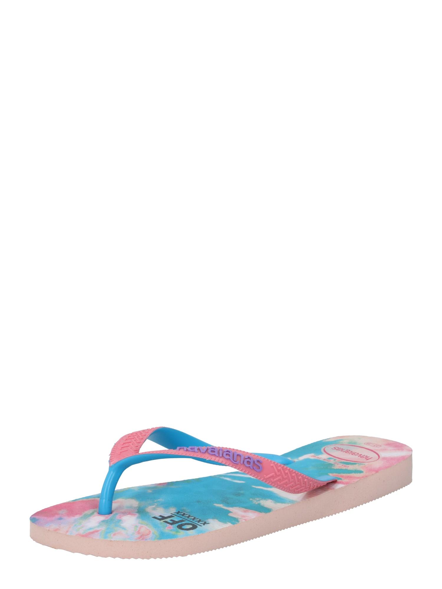 HAVAIANAS Šlepetės per pirštą rožių spalva / mėlyna / purpurinė