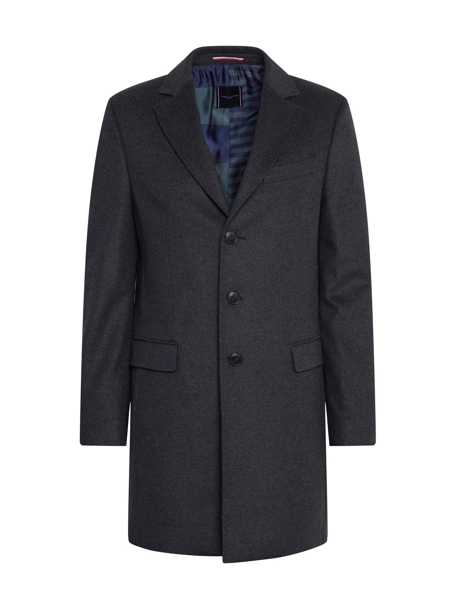 Tommy Hilfiger Tailored Přechodný kabát  tmavě šedá