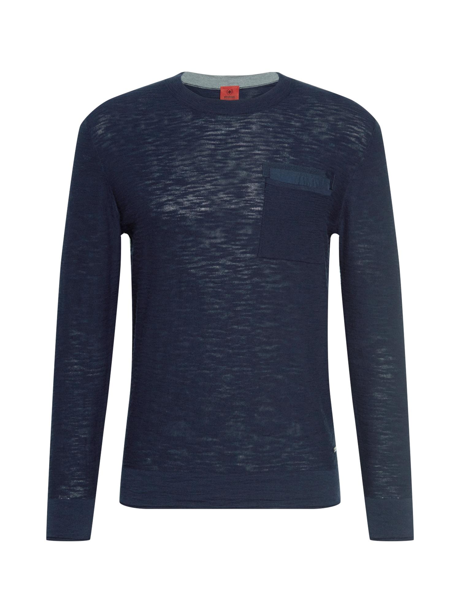 STRELLSON Megztinis tamsiai mėlyna / tamsiai mėlyna