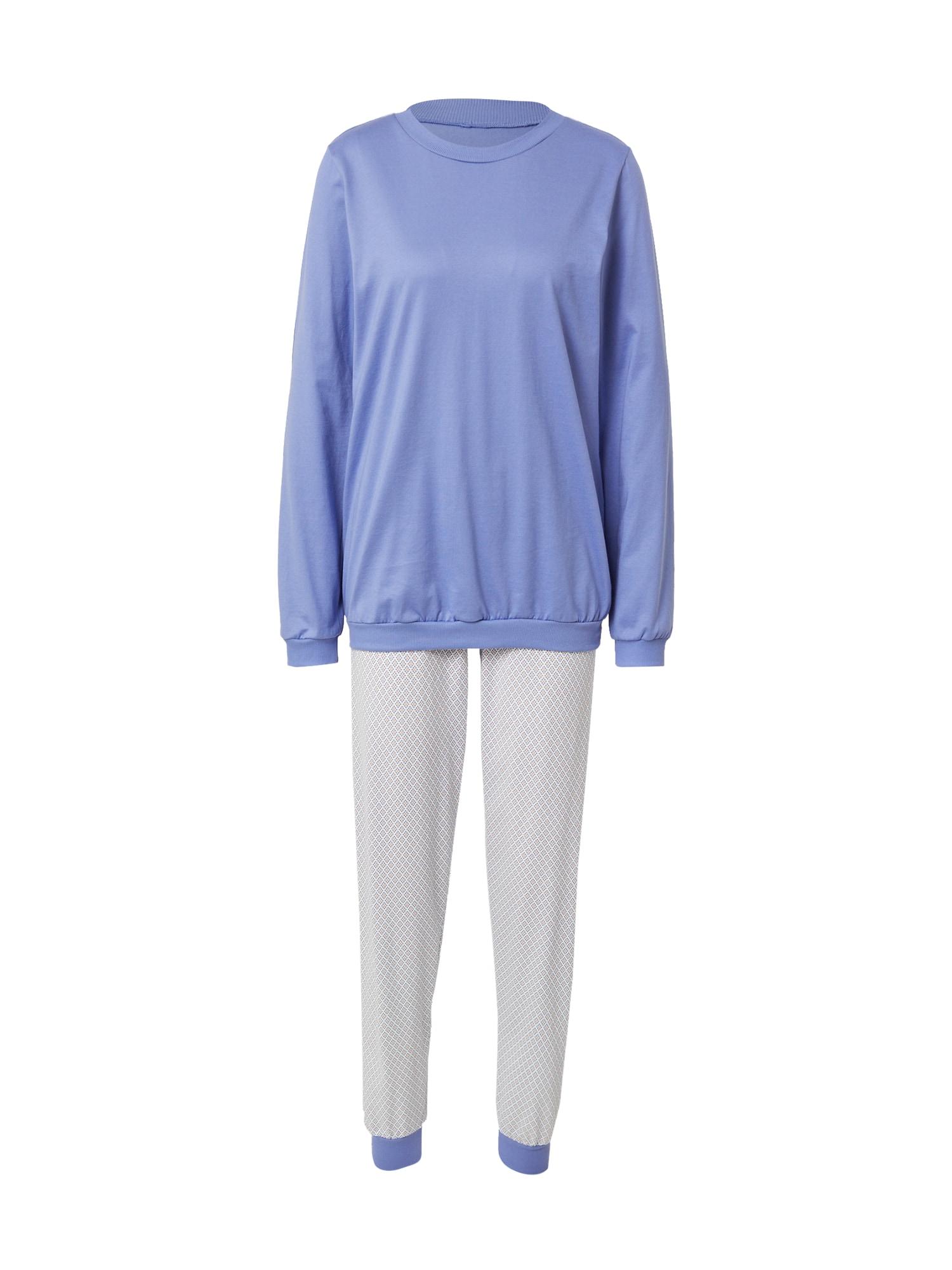 CALIDA Pyžamo  kouřově modrá / bílá / oranžová