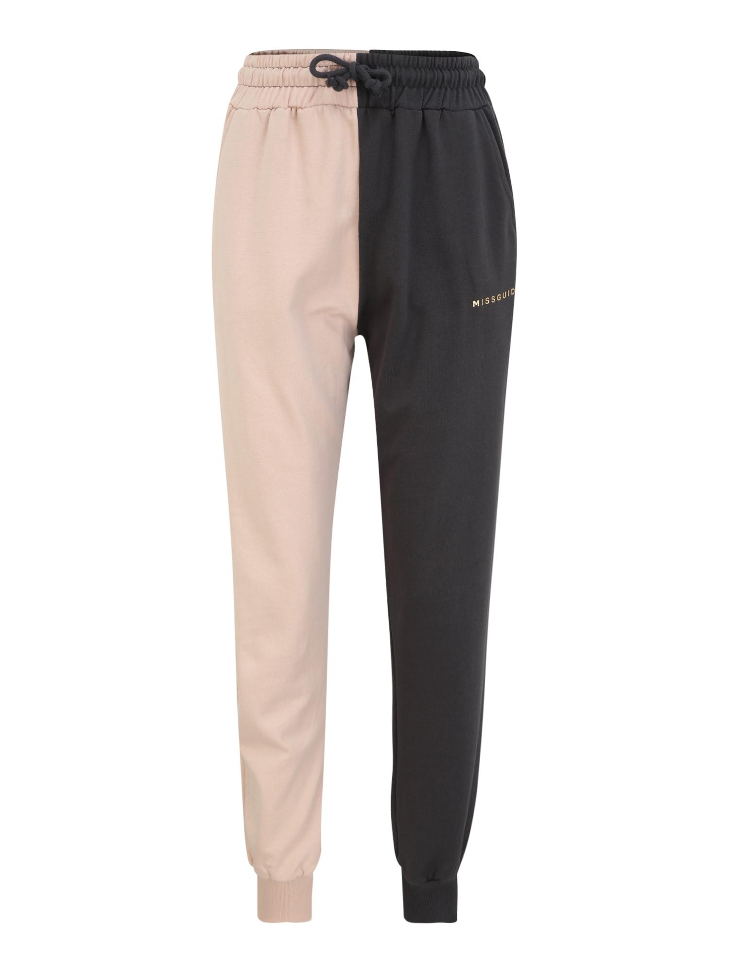 Missguided (Tall) Kelnės pastelinė rožinė / juoda