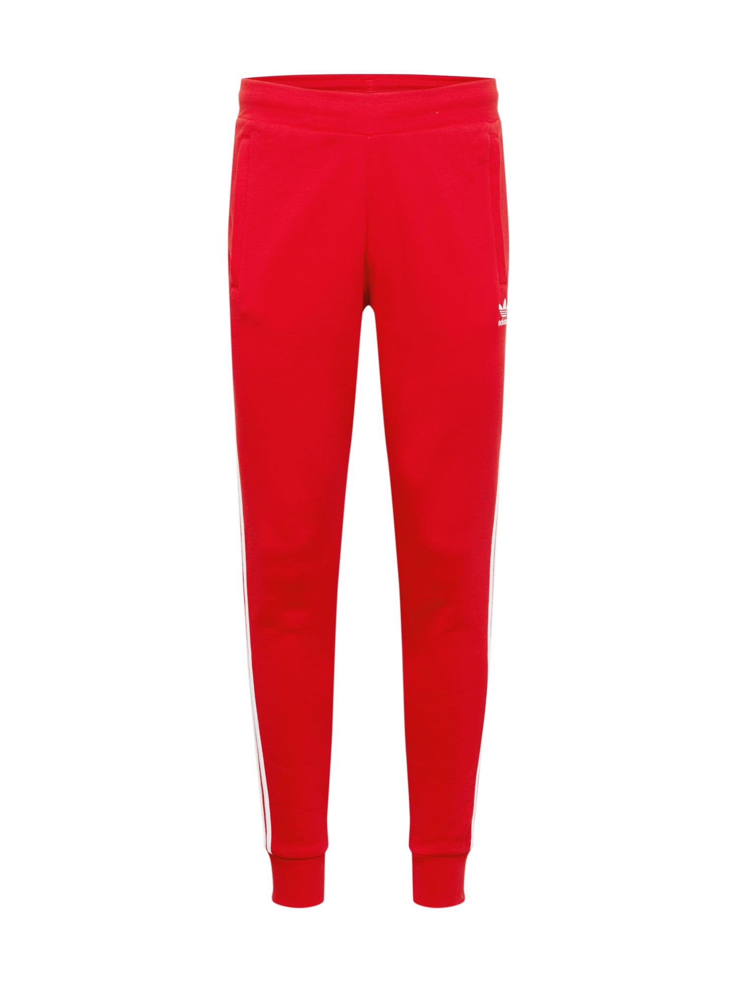 ADIDAS ORIGINALS Kelnės '3-STRIPES PANTS' raudona