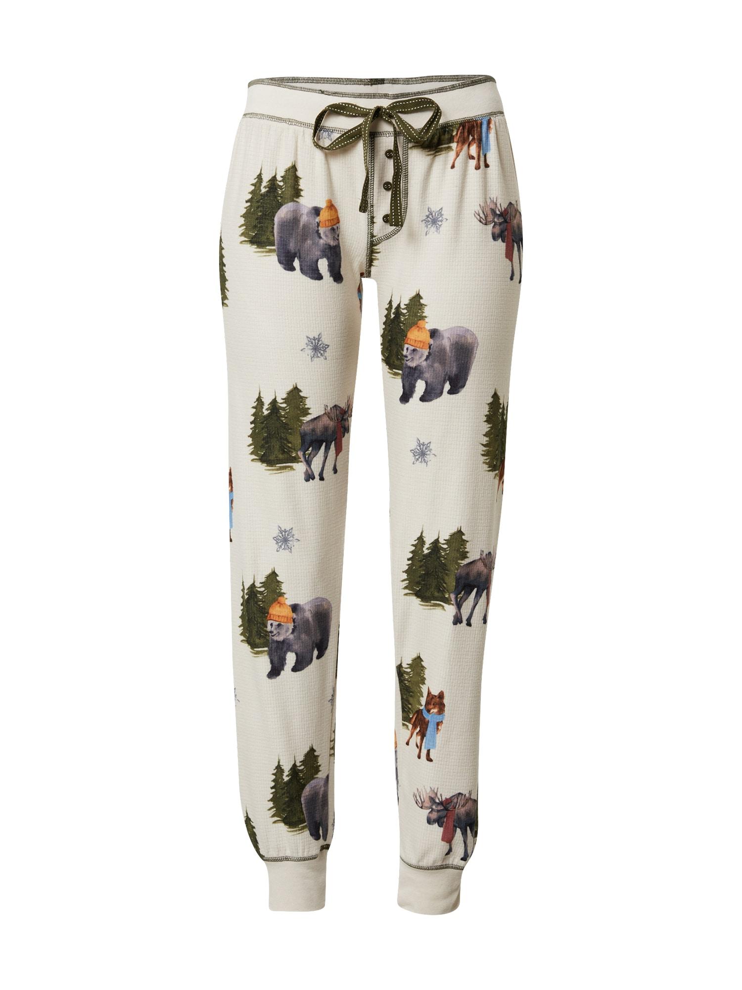 PJ Salvage Pižaminės kelnės šviesiai pilka / mišrios spalvos
