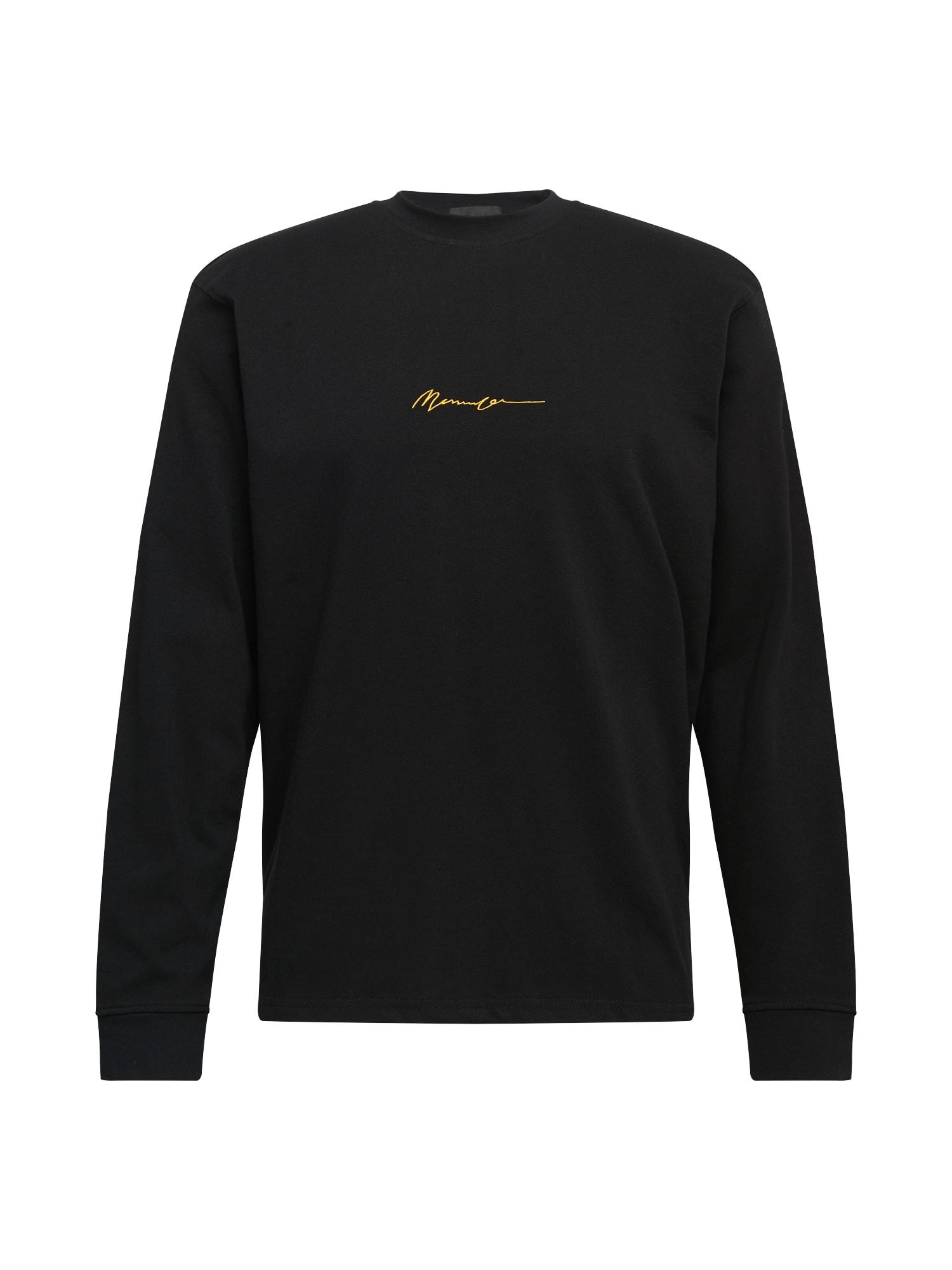 Mennace Marškinėliai juoda / geltona