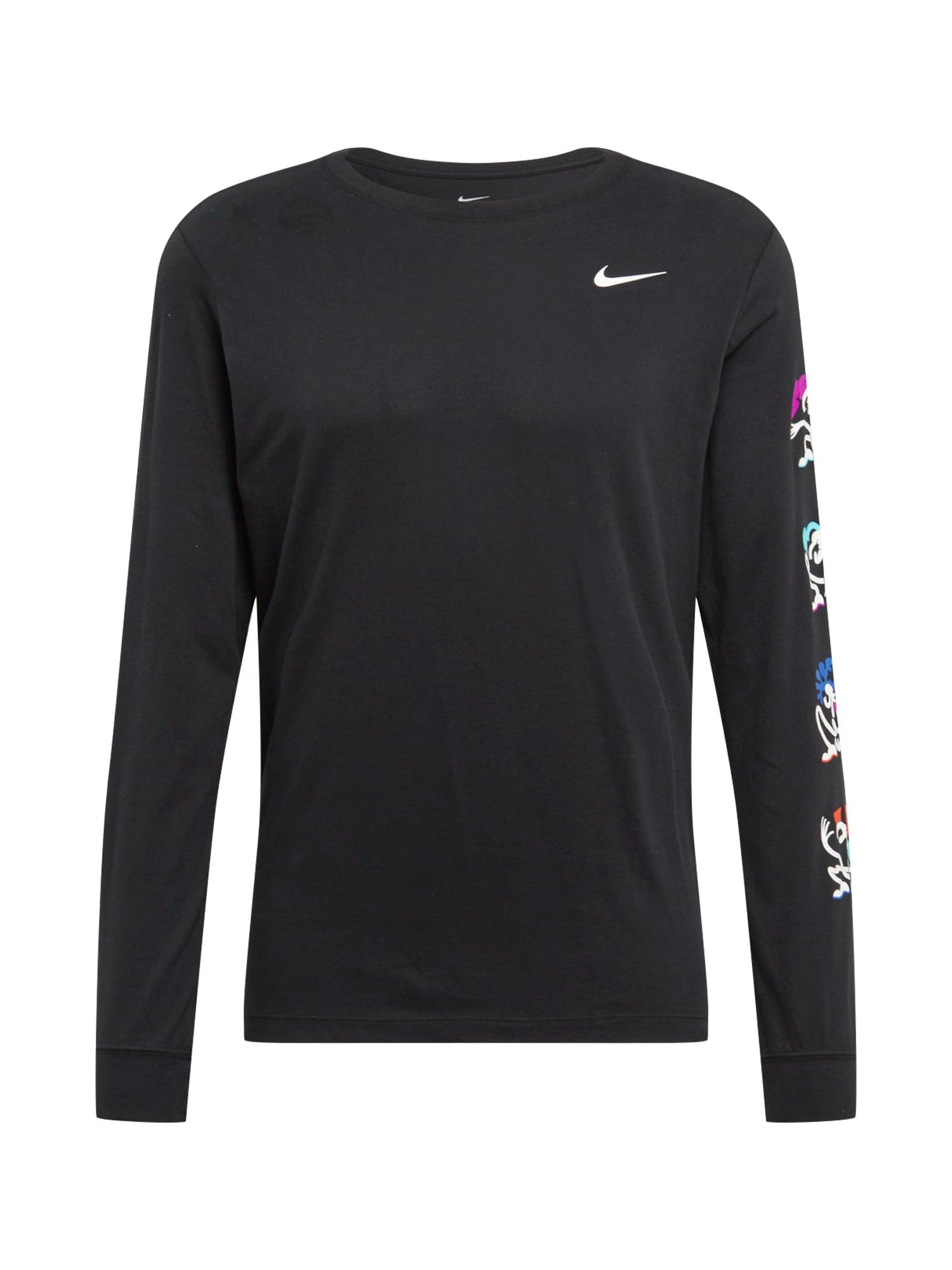 NIKE Sportinio tipo megztinis juoda / mišrios spalvos