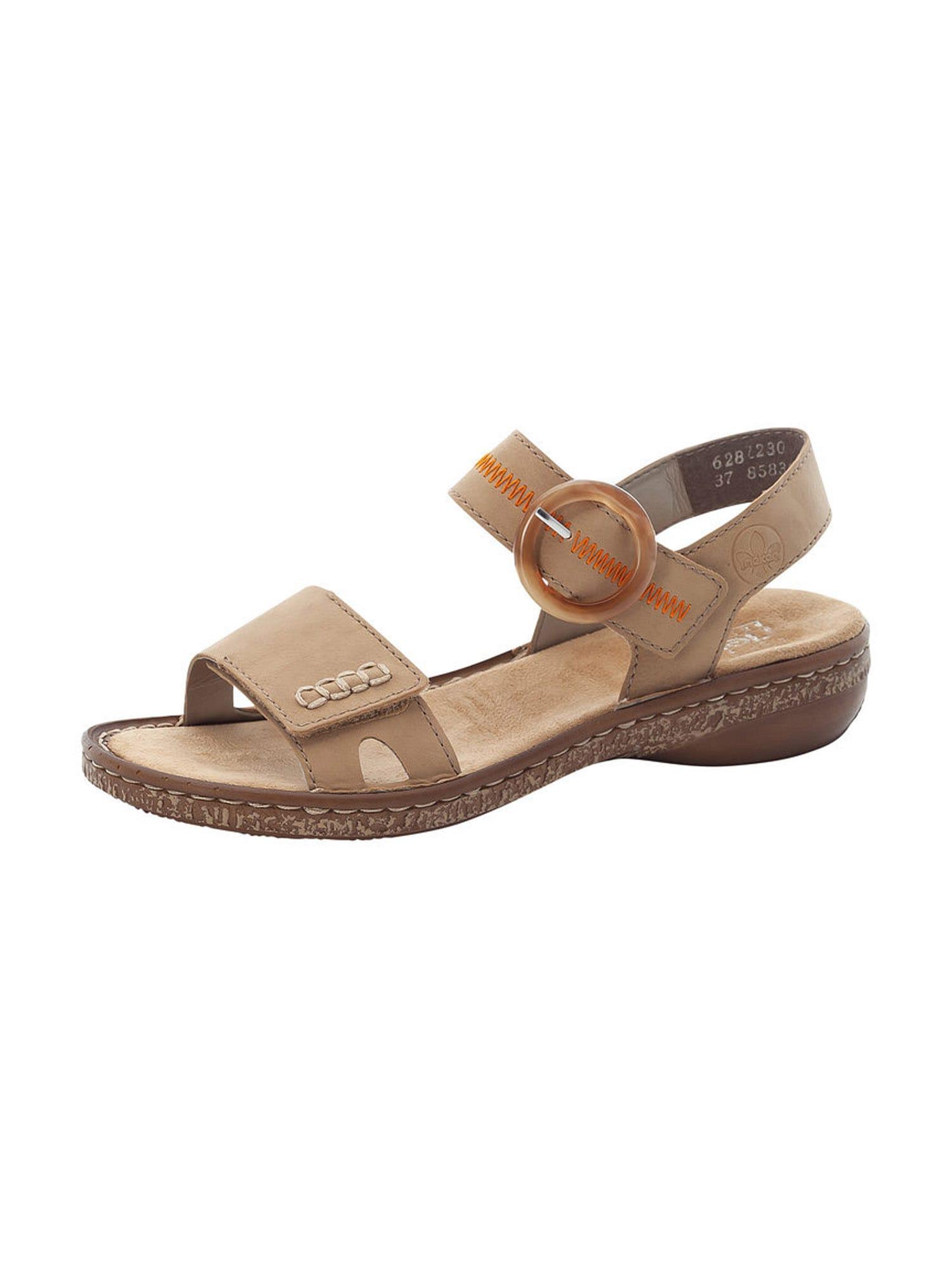 RIEKER Sandalai šviesiai ruda / oranžinė