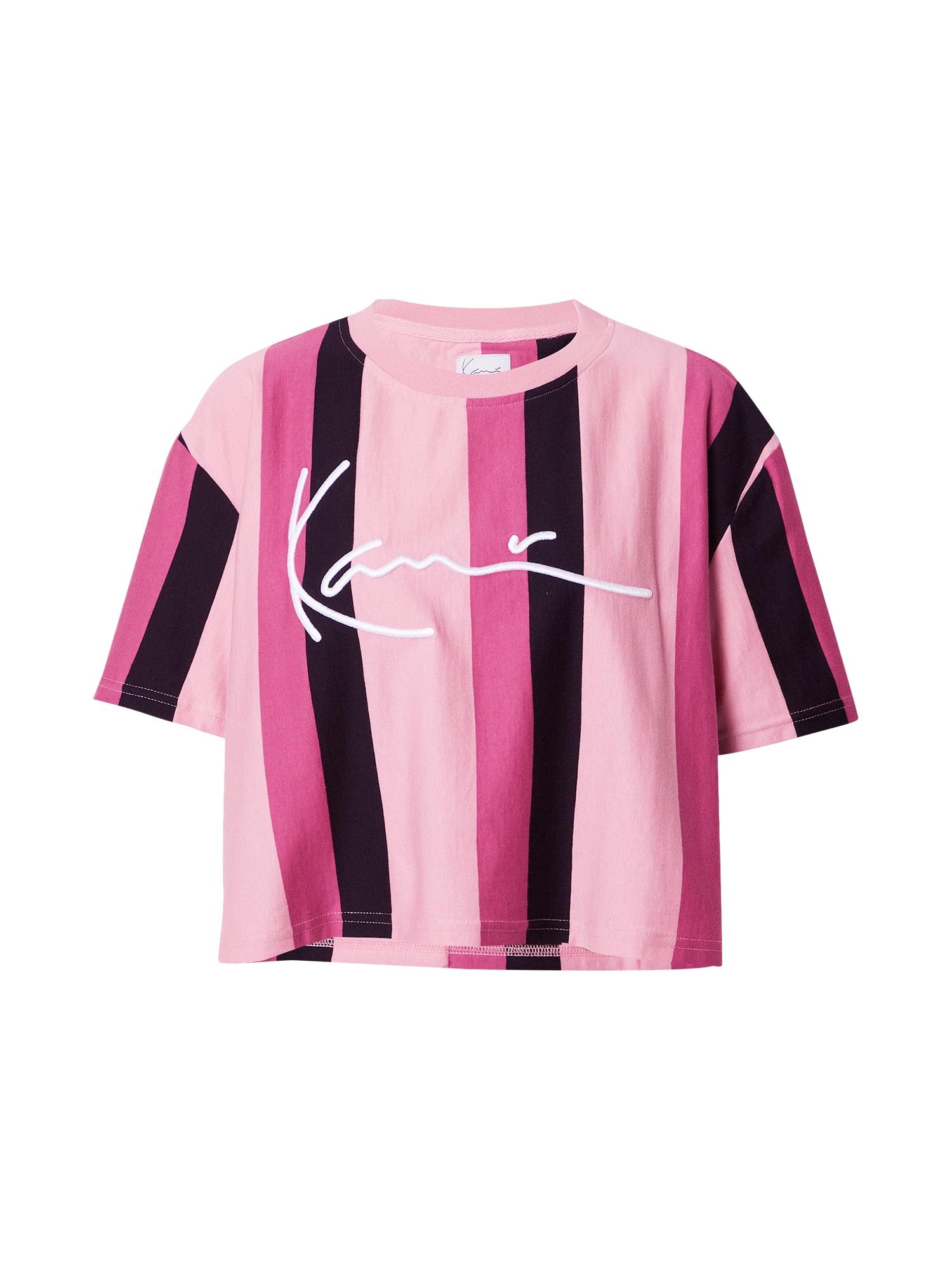 Karl Kani Marškinėliai juoda / šviesiai rožinė / rožinė
