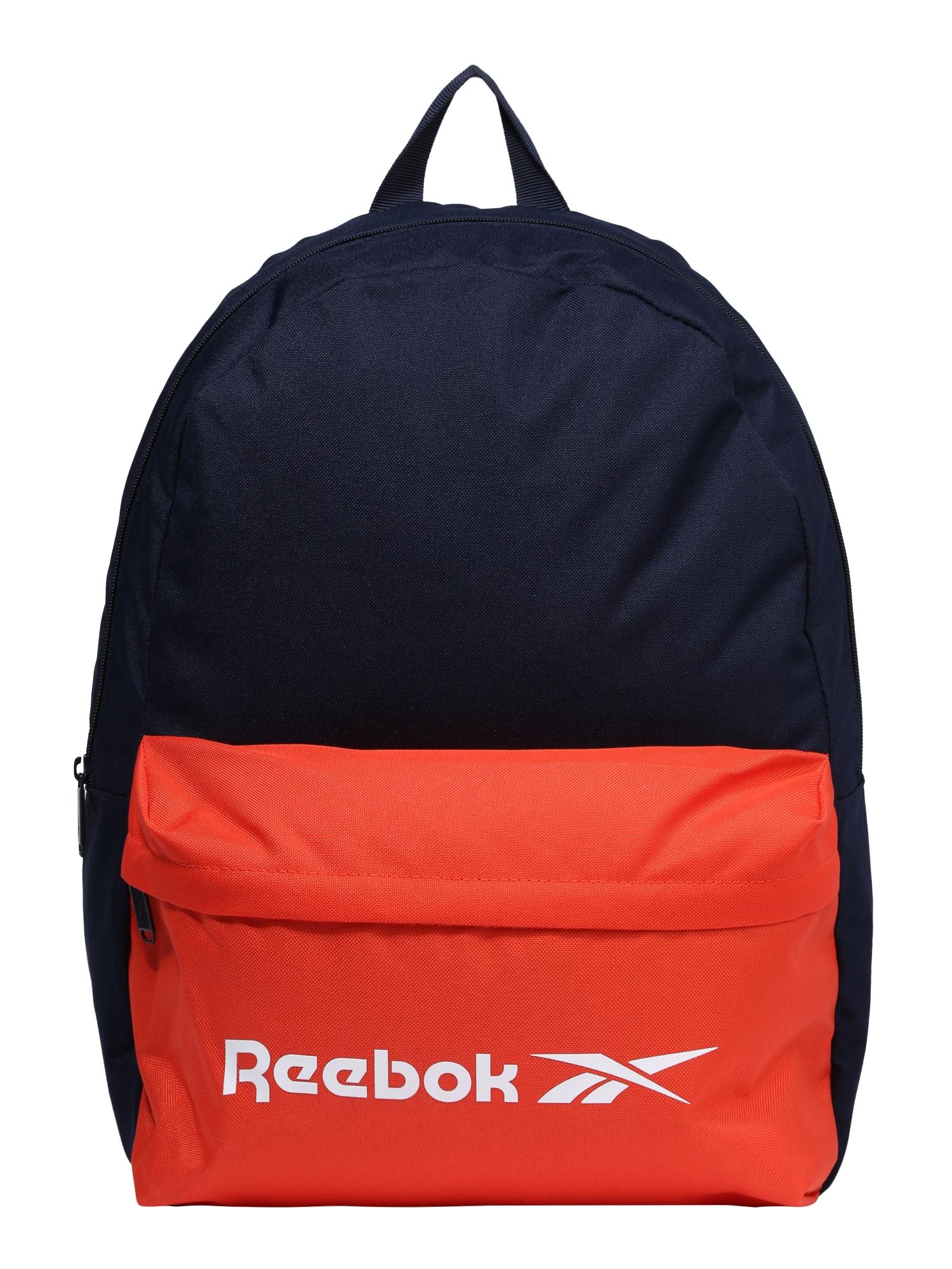 REEBOK Sportinė kuprinė tamsiai mėlyna / melionų spalva / balta