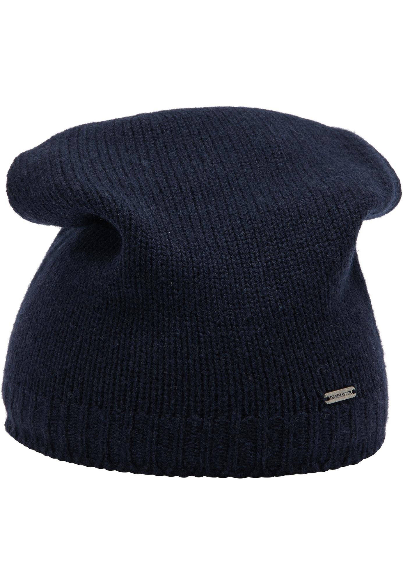DreiMaster Klassik Megzta kepurė tamsiai mėlyna