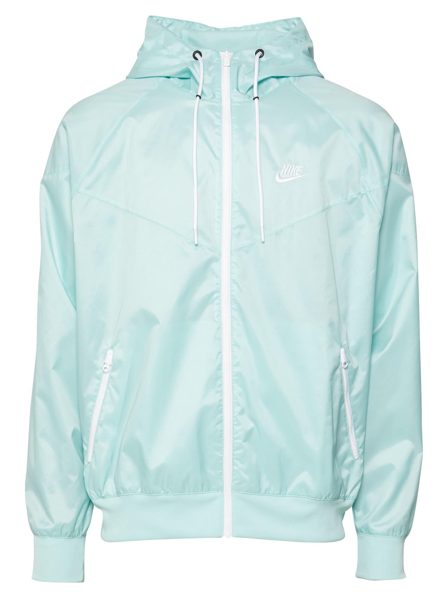 Nike Sportswear Demisezoninė striukė nefrito spalva / balta