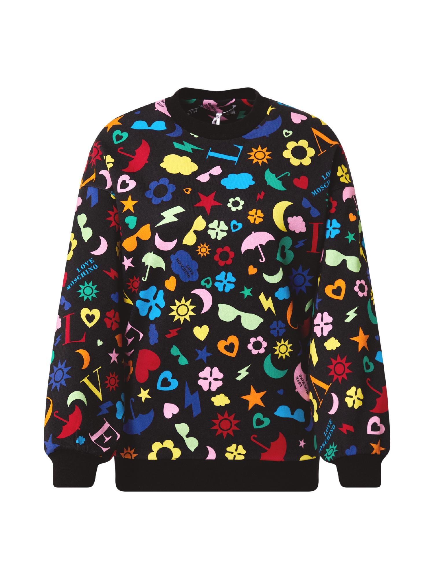 Love Moschino Megztinis be užsegimo juoda / mišrios spalvos