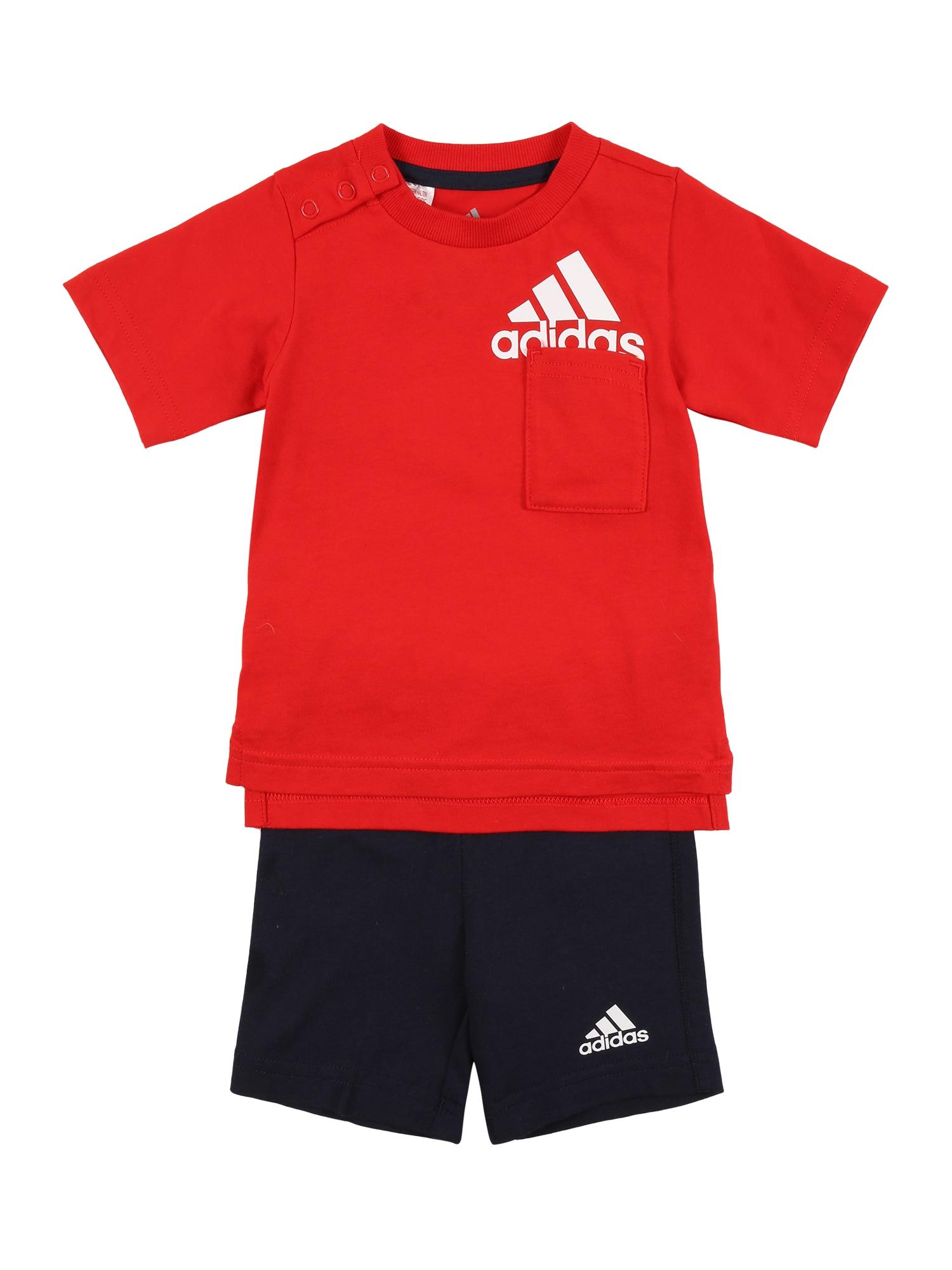 ADIDAS PERFORMANCE Treniruočių kostiumas raudona / balta / tamsiai mėlyna jūros spalva