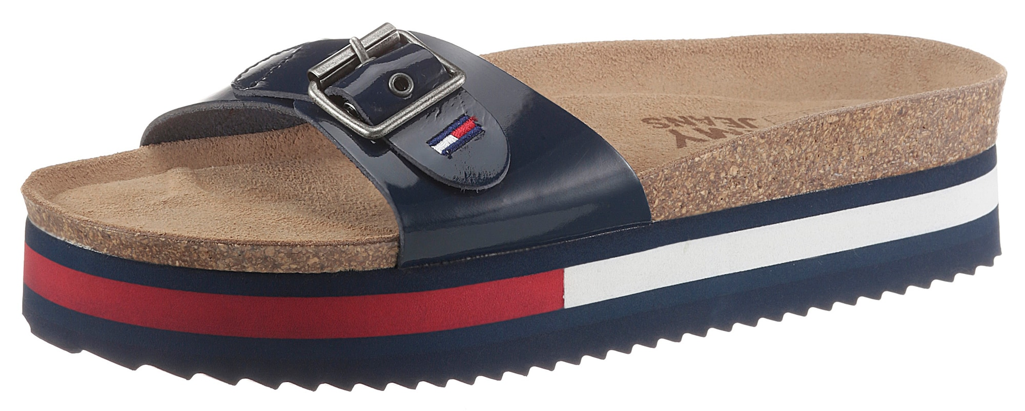 Tommy Jeans Šlepetės raudona / balta / tamsiai mėlyna jūros spalva
