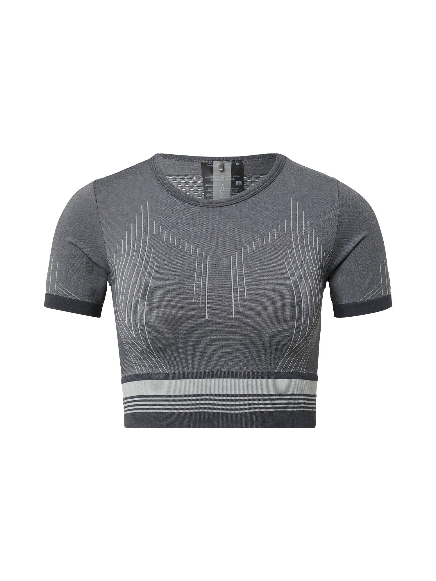 ONLY PLAY Funkční tričko 'MERETA'  grafitová / šedá / světle šedá