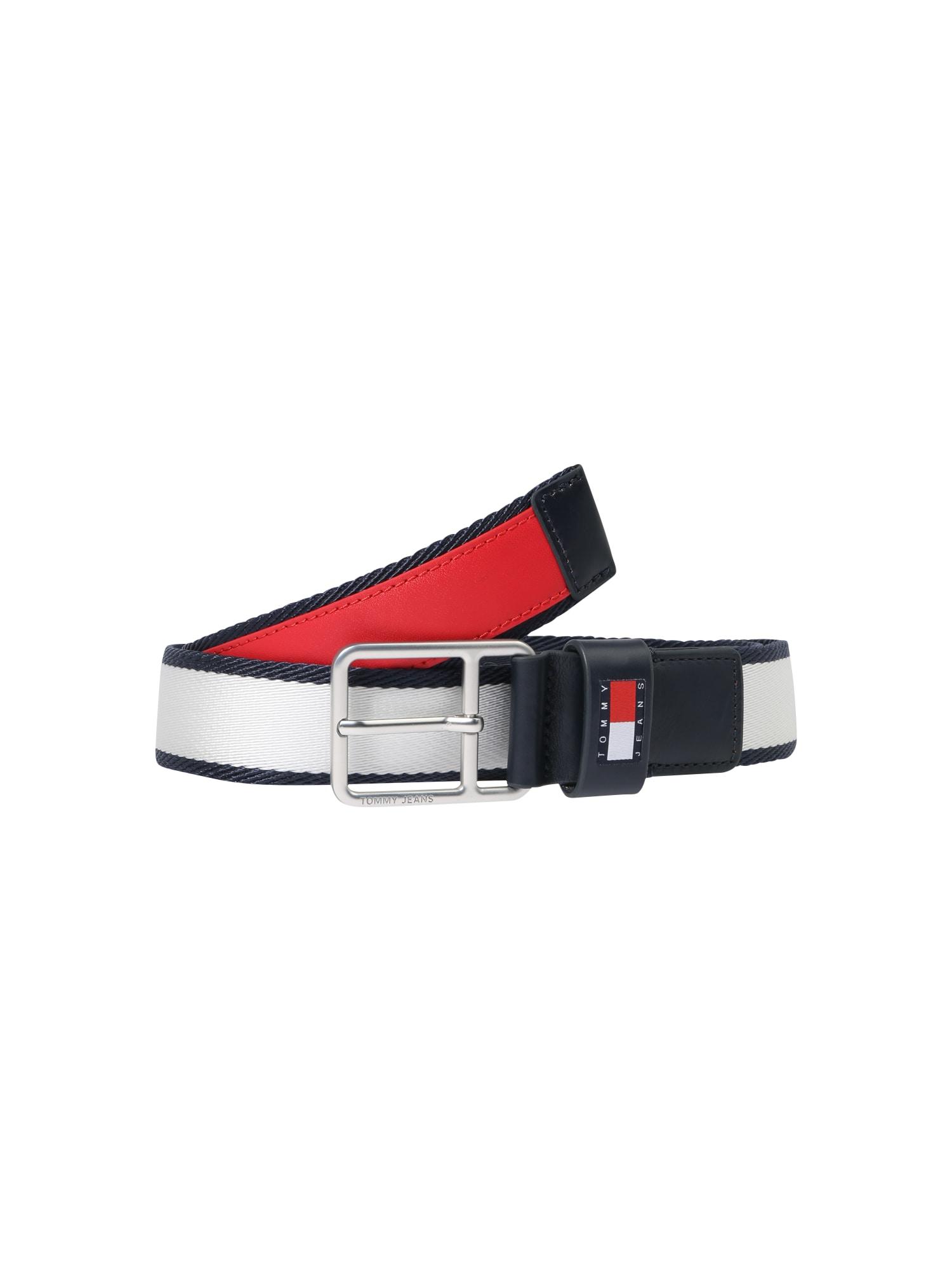 Tommy Jeans Diržas raudona / balta / tamsiai mėlyna