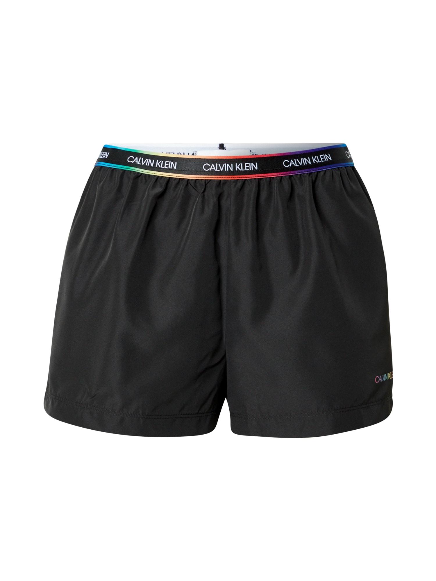 Calvin Klein Swimwear Maudymosi trumpikės juoda / mišrios spalvos