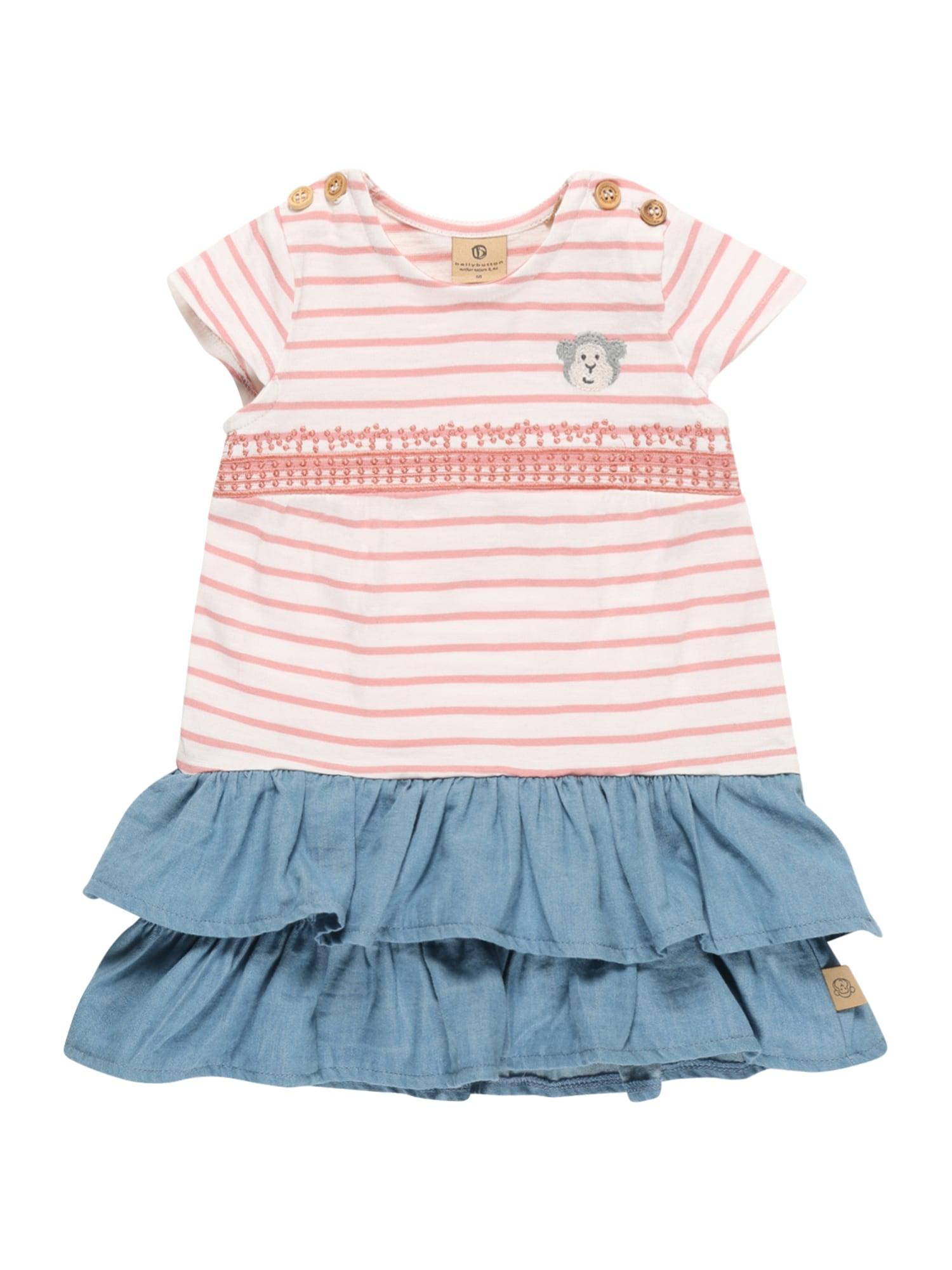 BELLYBUTTON Suknelė balta / šviesiai rožinė / mėlyna dūmų spalva