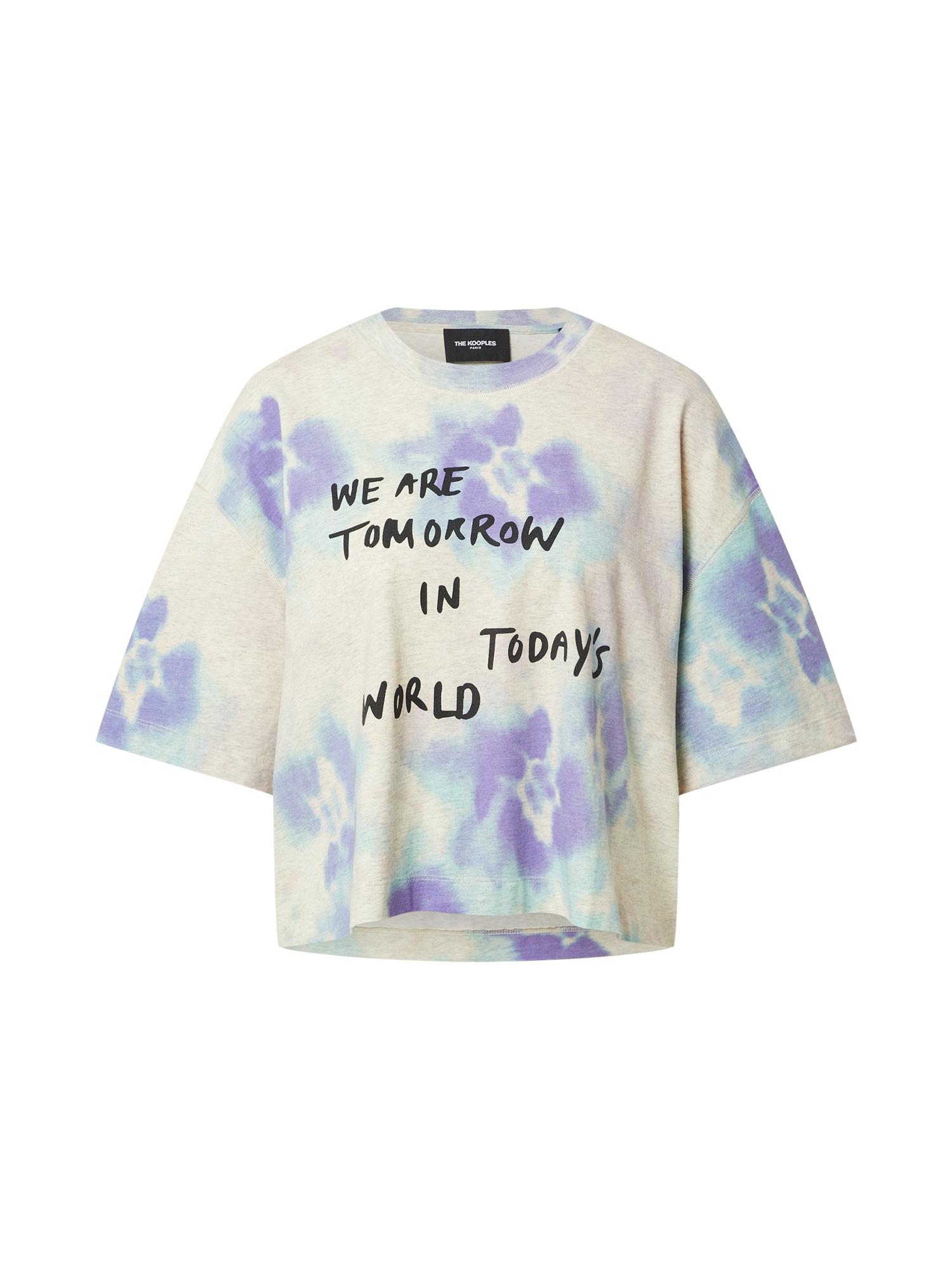 The Kooples Marškinėliai marga smėlio spalva / šviesiai violetinė / šviesiai mėlyna / juoda