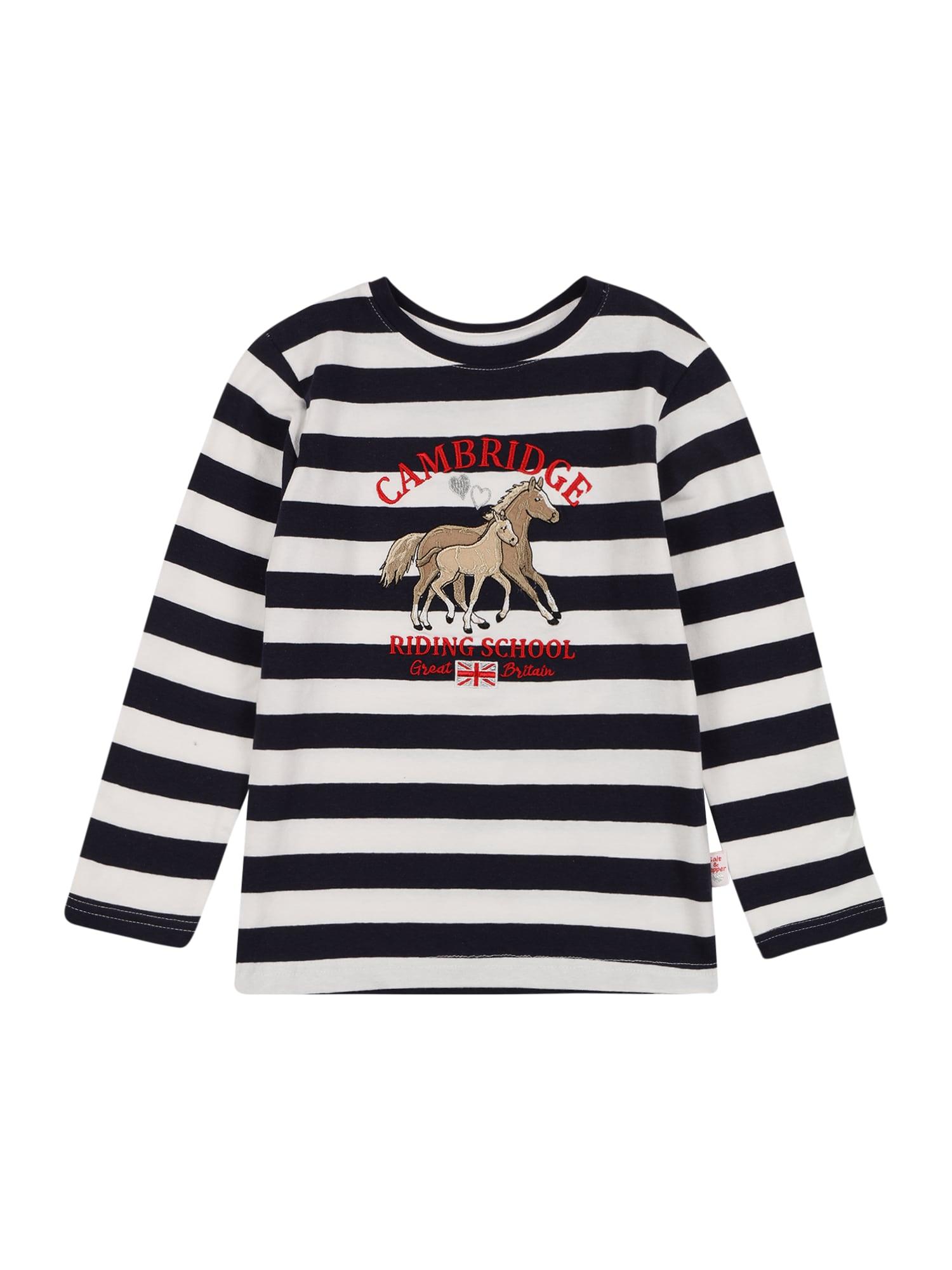 SALT AND PEPPER Marškinėliai tamsiai mėlyna / balta / sidabrinė / ugnies raudona / šviesiai ruda