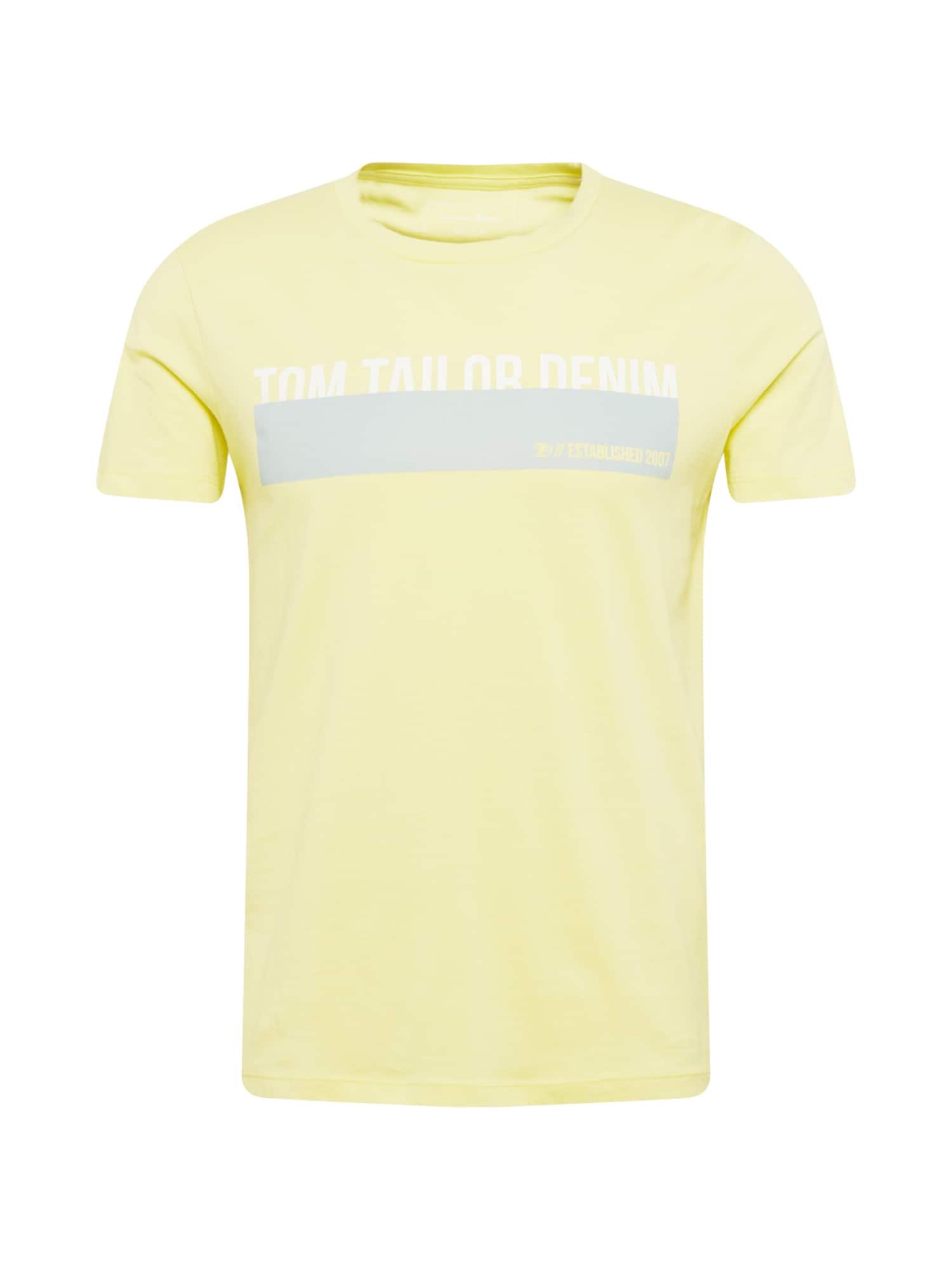 TOM TAILOR DENIM Tričko  světle žlutá / bílá / světlemodrá