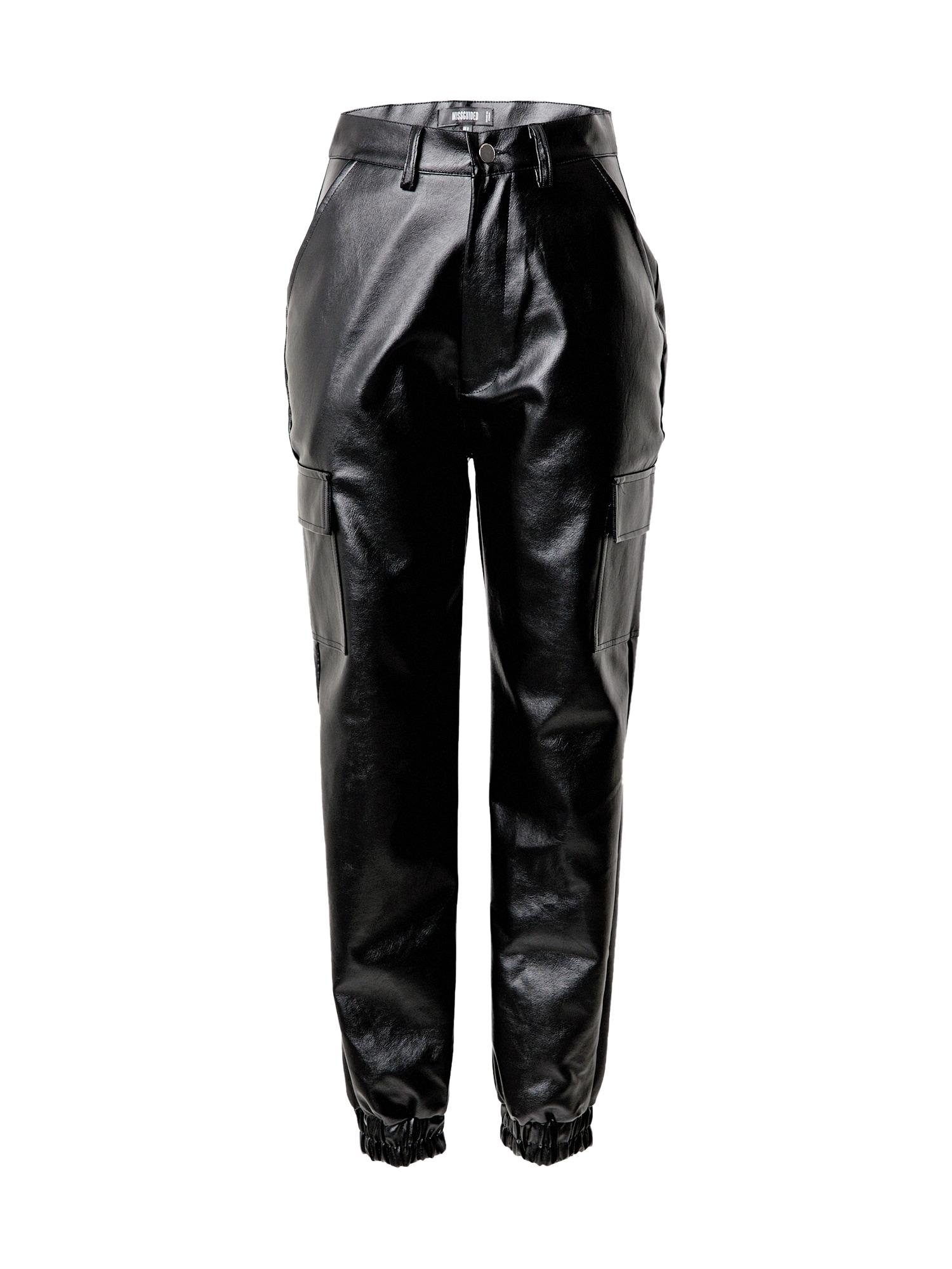Missguided Laisvo stiliaus kelnės juoda