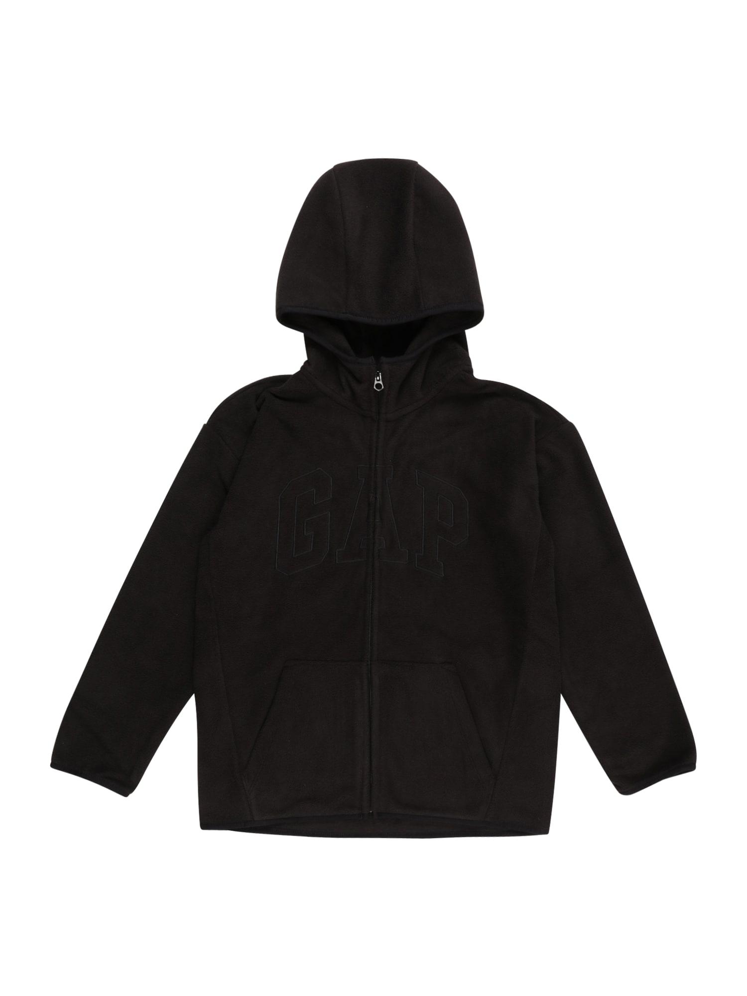 GAP Fleecová mikina  černá