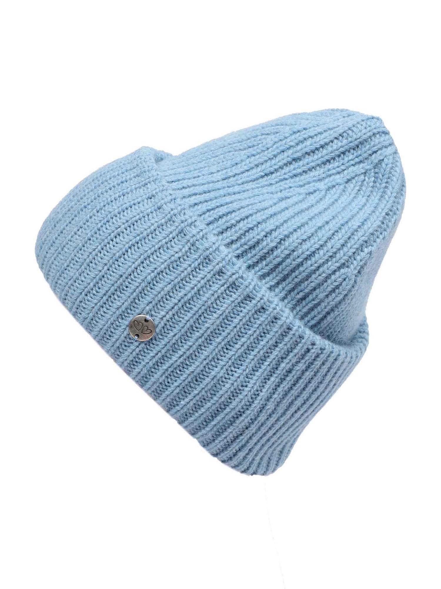 Zwillingsherz Megzta kepurė šviesiai mėlyna