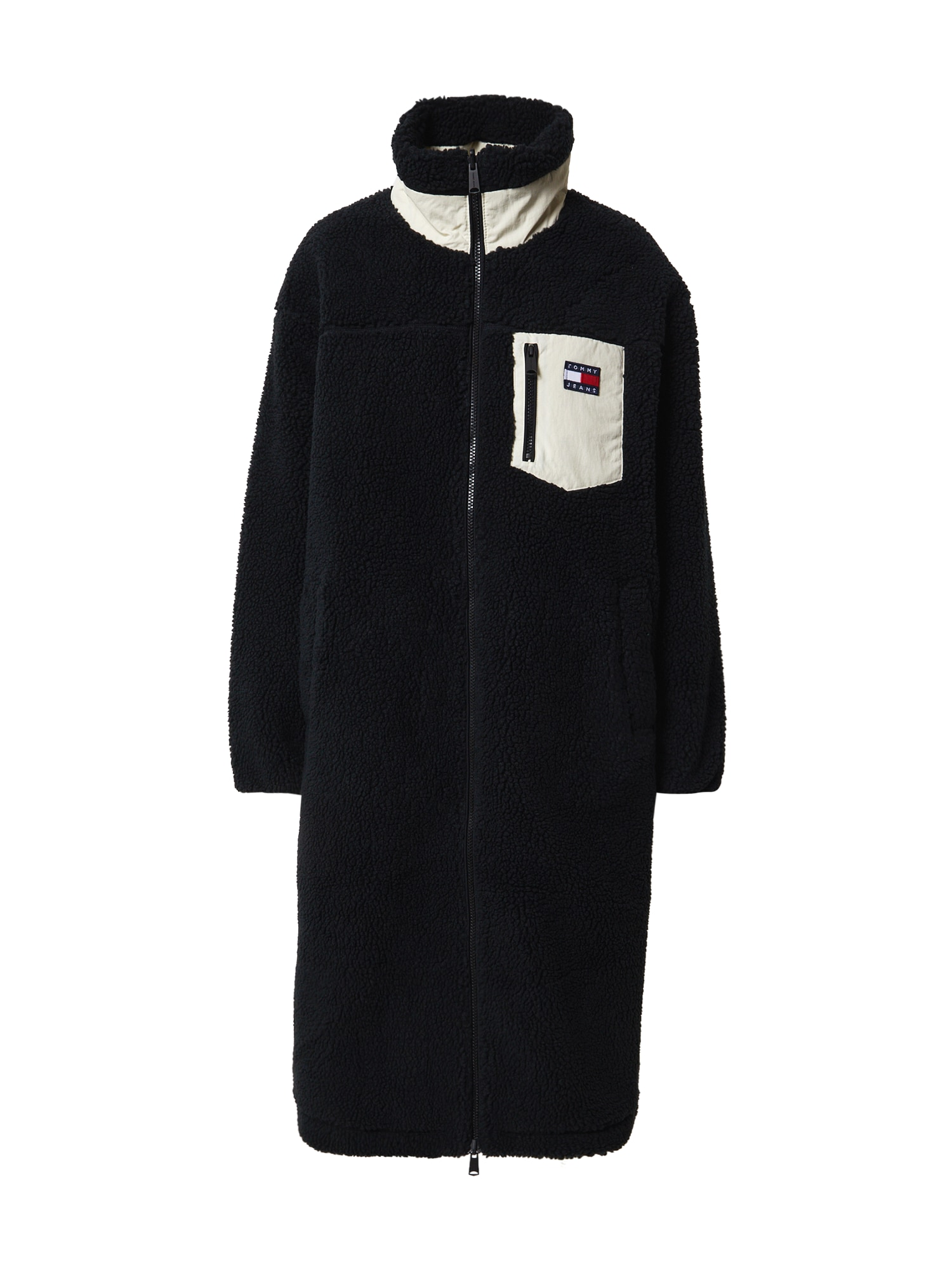 Tommy Jeans Demisezoninis paltas juoda / balta