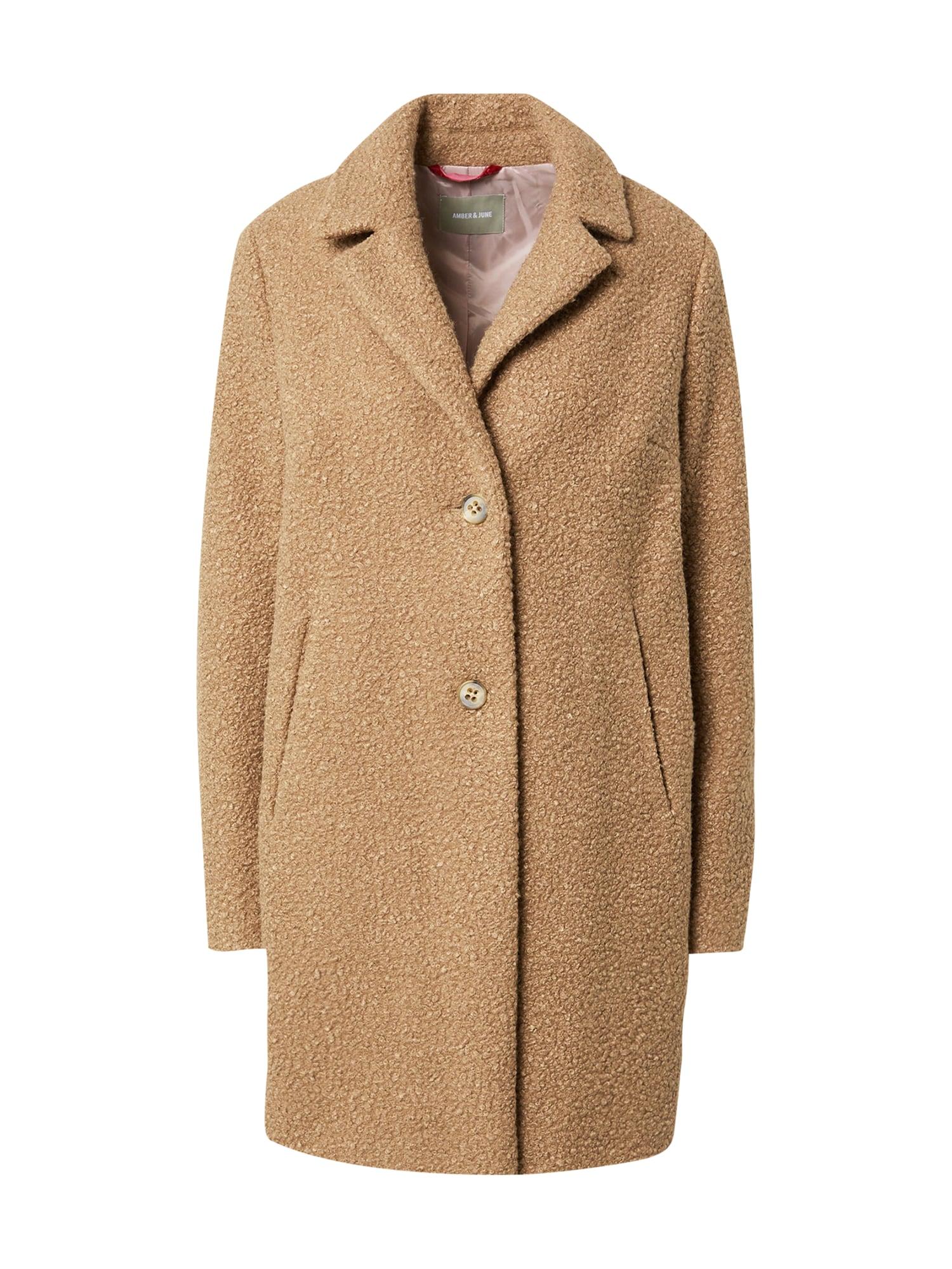 Amber & June Demisezoninis paltas ruda