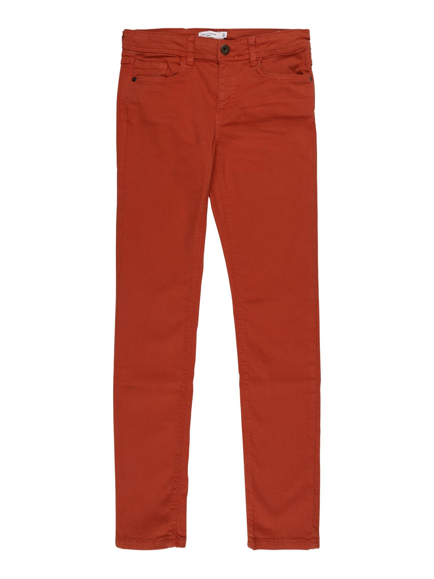 NAME IT Kalhoty  tmavě oranžová
