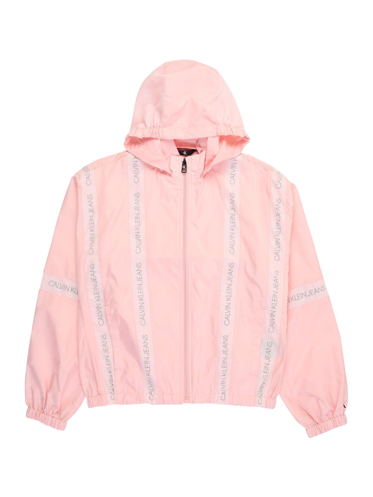 Calvin Klein Jeans Demisezoninė striukė rožių spalva / sidabro pilka