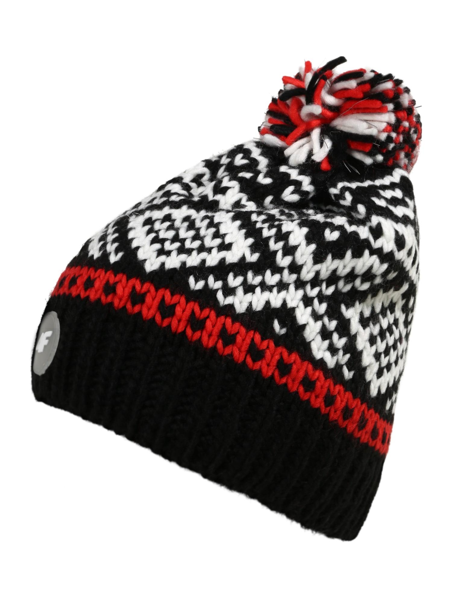4F Sportinė kepurė raudona / juoda / balta