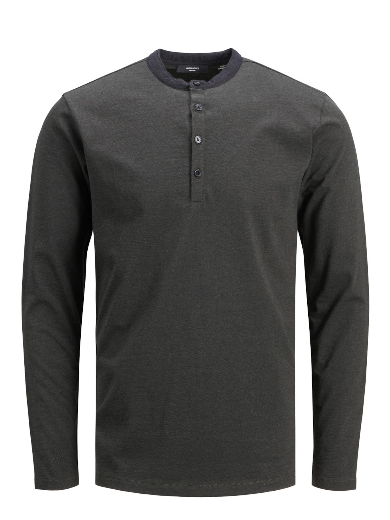 JACK & JONES Marškinėliai tamsiai ruda