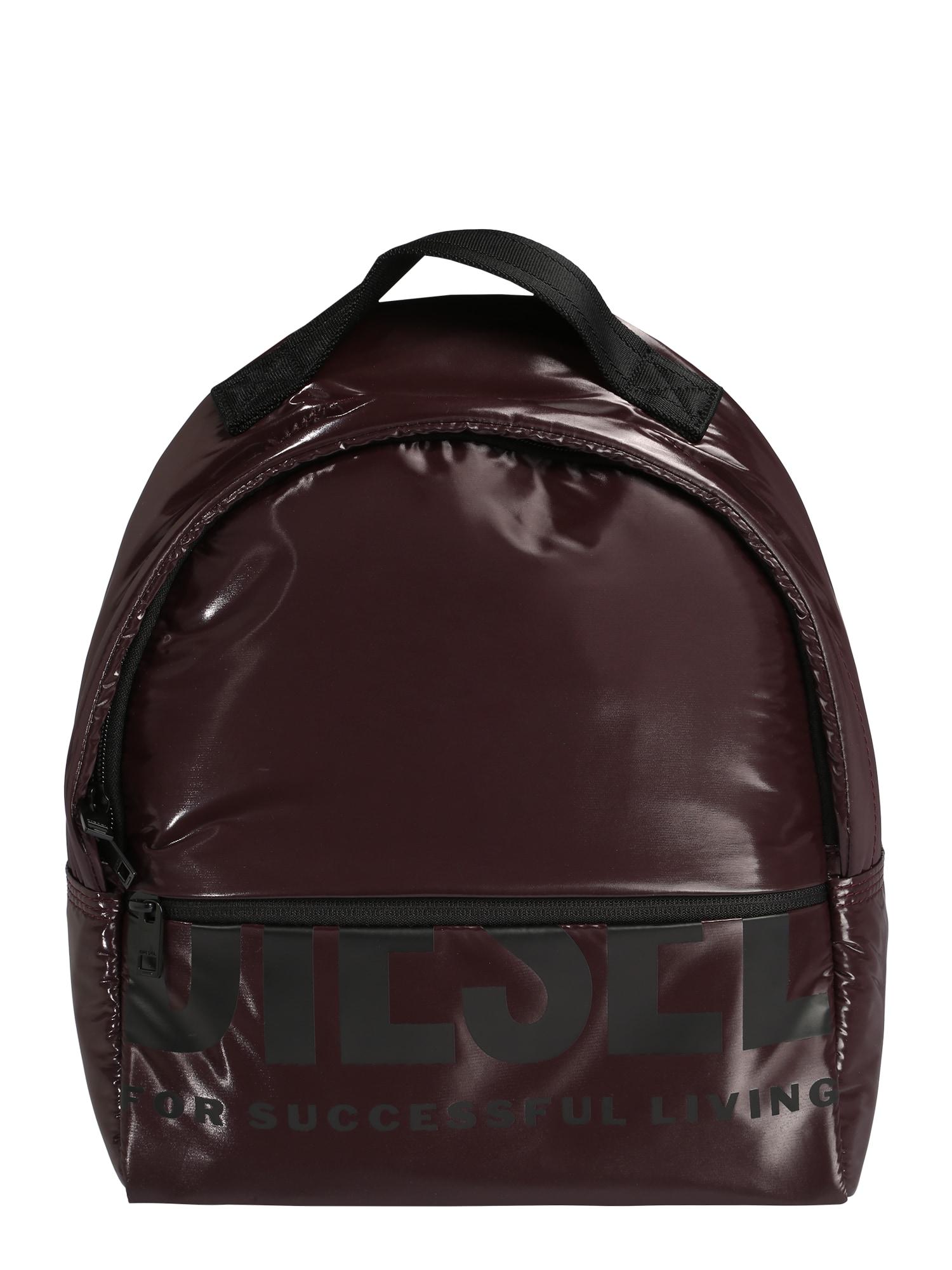 DIESEL Kuprinė 'F-BOLD BACK FL II' slyvų spalva / juoda
