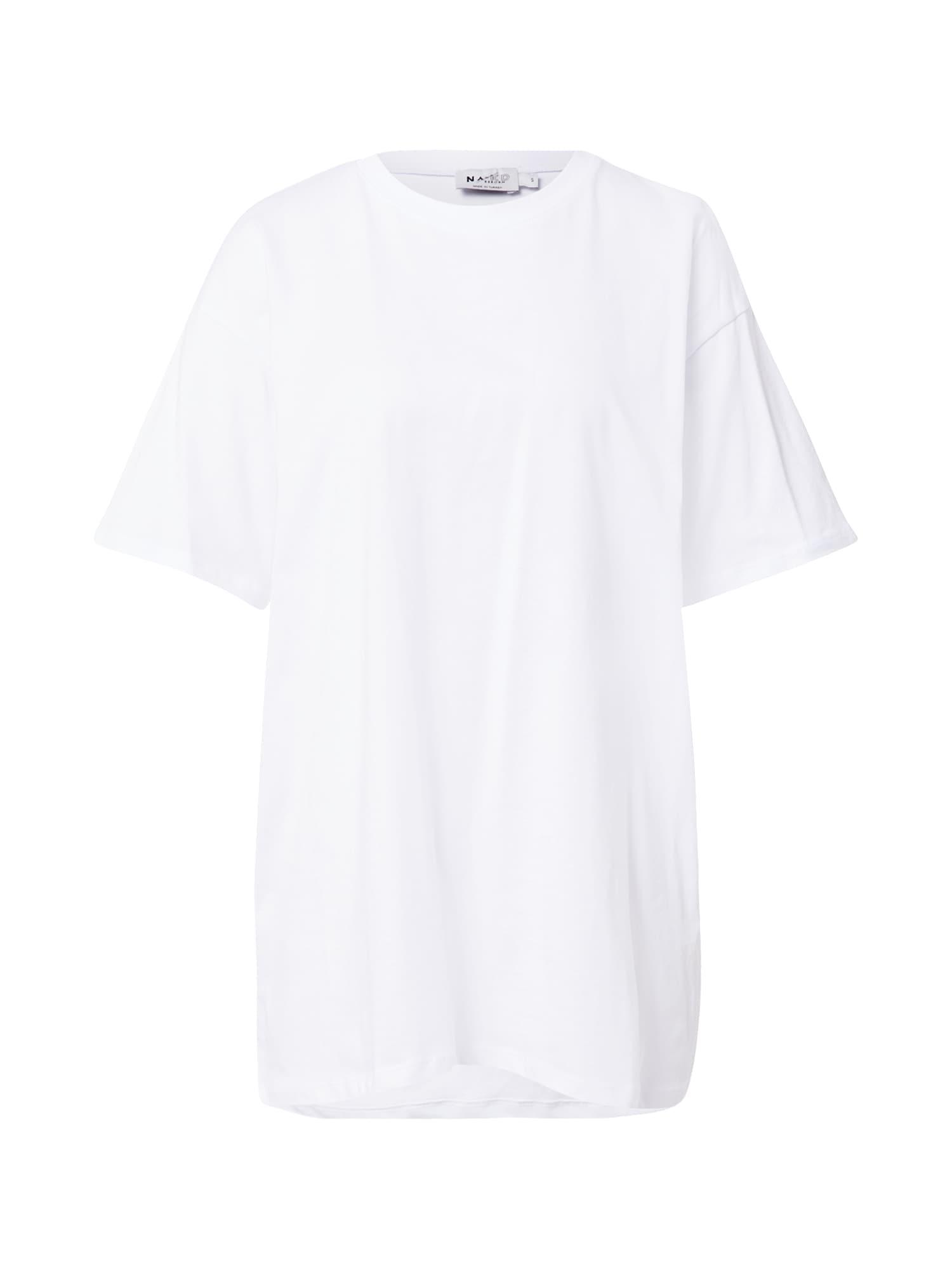NA-KD Laisvi marškinėliai balta