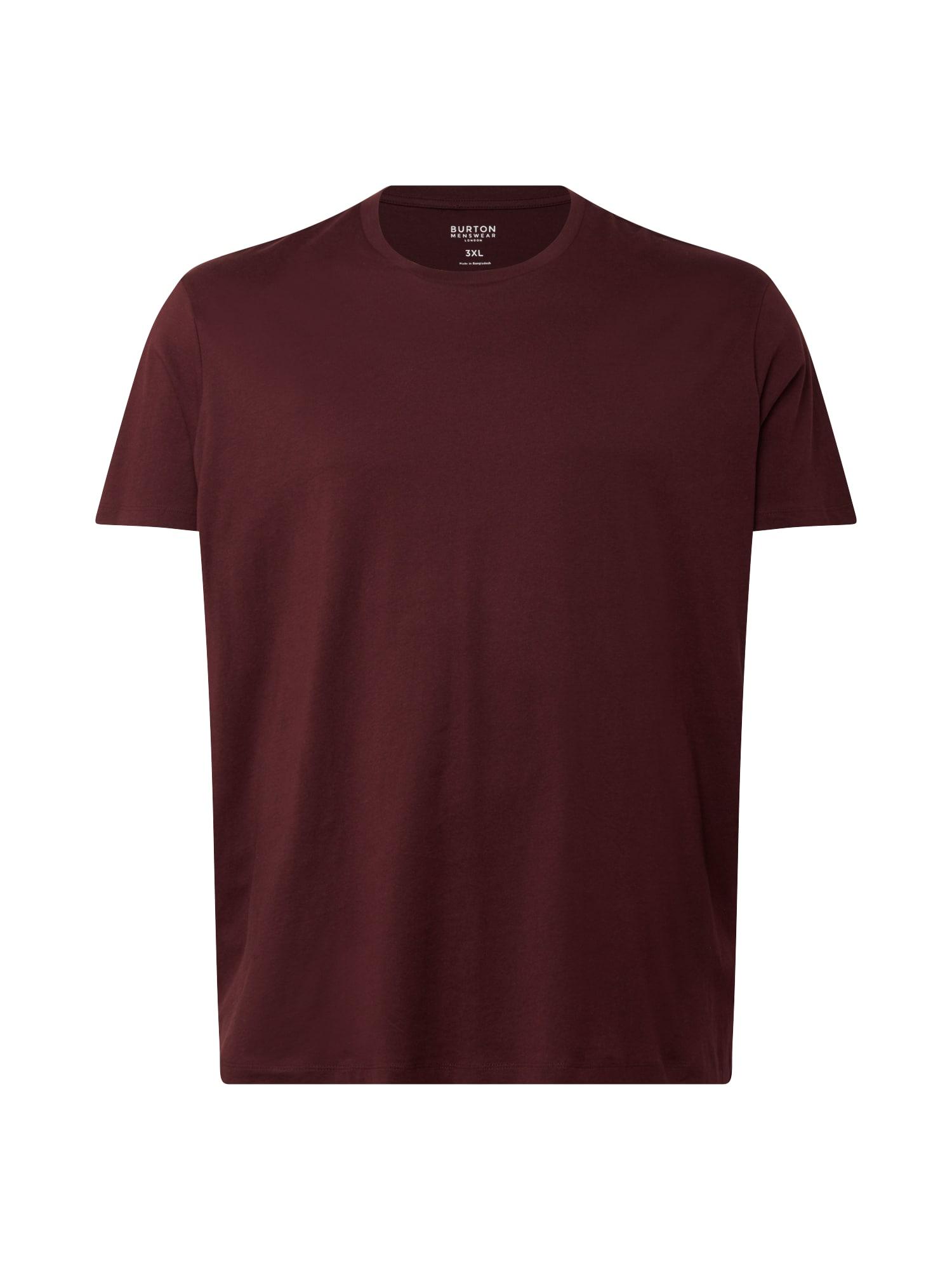BURTON MENSWEAR LONDON (Big & Tall) Marškinėliai burgundiško vyno spalva