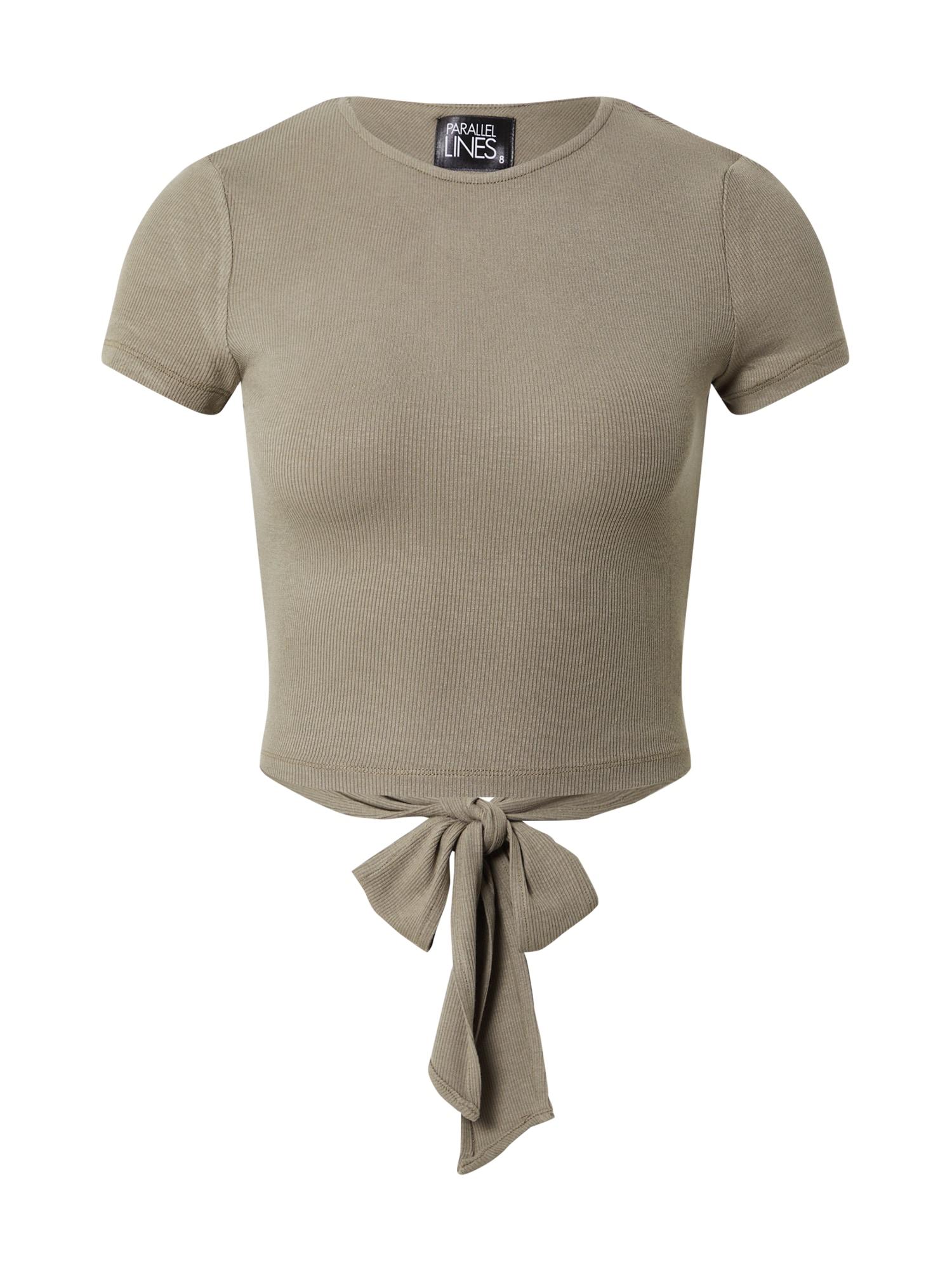 Parallel Lines Marškinėliai alyvuogių spalva