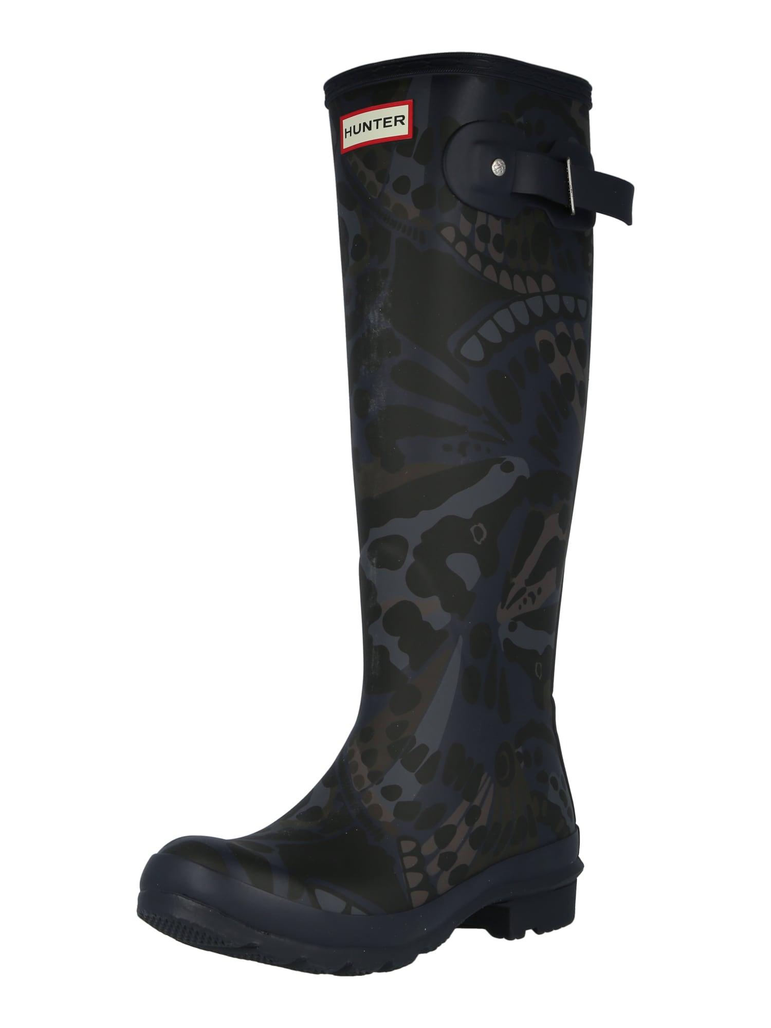 HUNTER Guminiai batai tamsiai mėlyna / ruda / šviesiai pilka