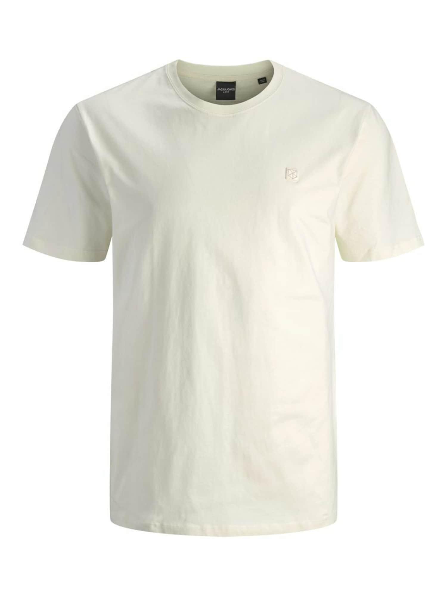 Jack & Jones Plus Marškinėliai natūrali balta