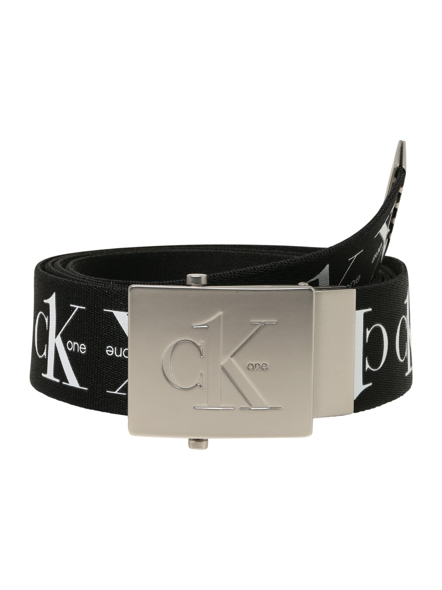 Calvin Klein Diržas juoda / balta
