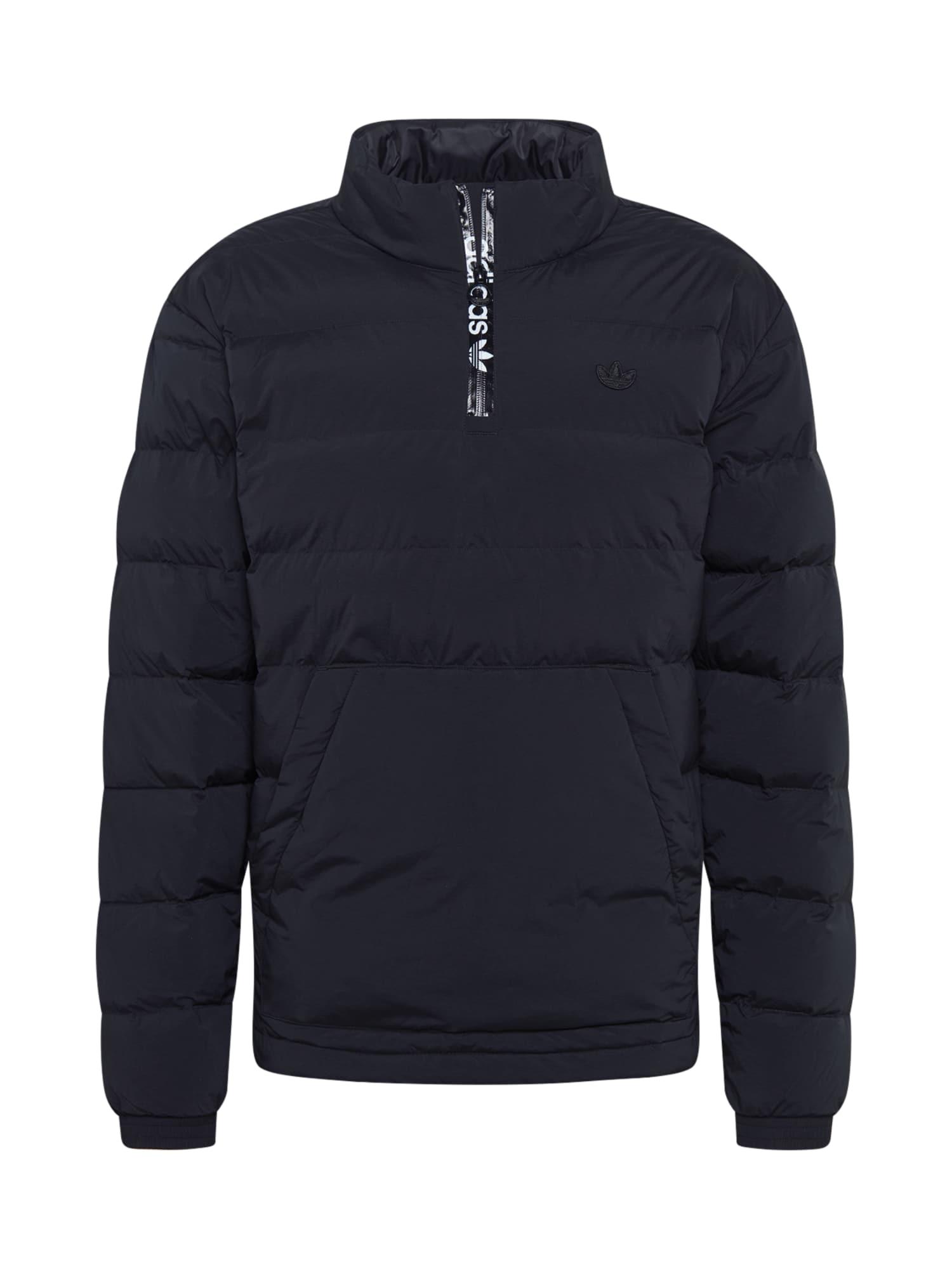 ADIDAS ORIGINALS Přechodná bunda  černá / bílá