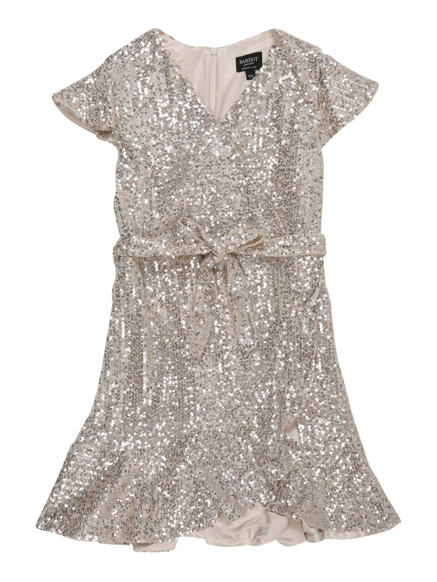 Bardot Junior Suknelė 'SEQUIN' sidabrinė / smėlio