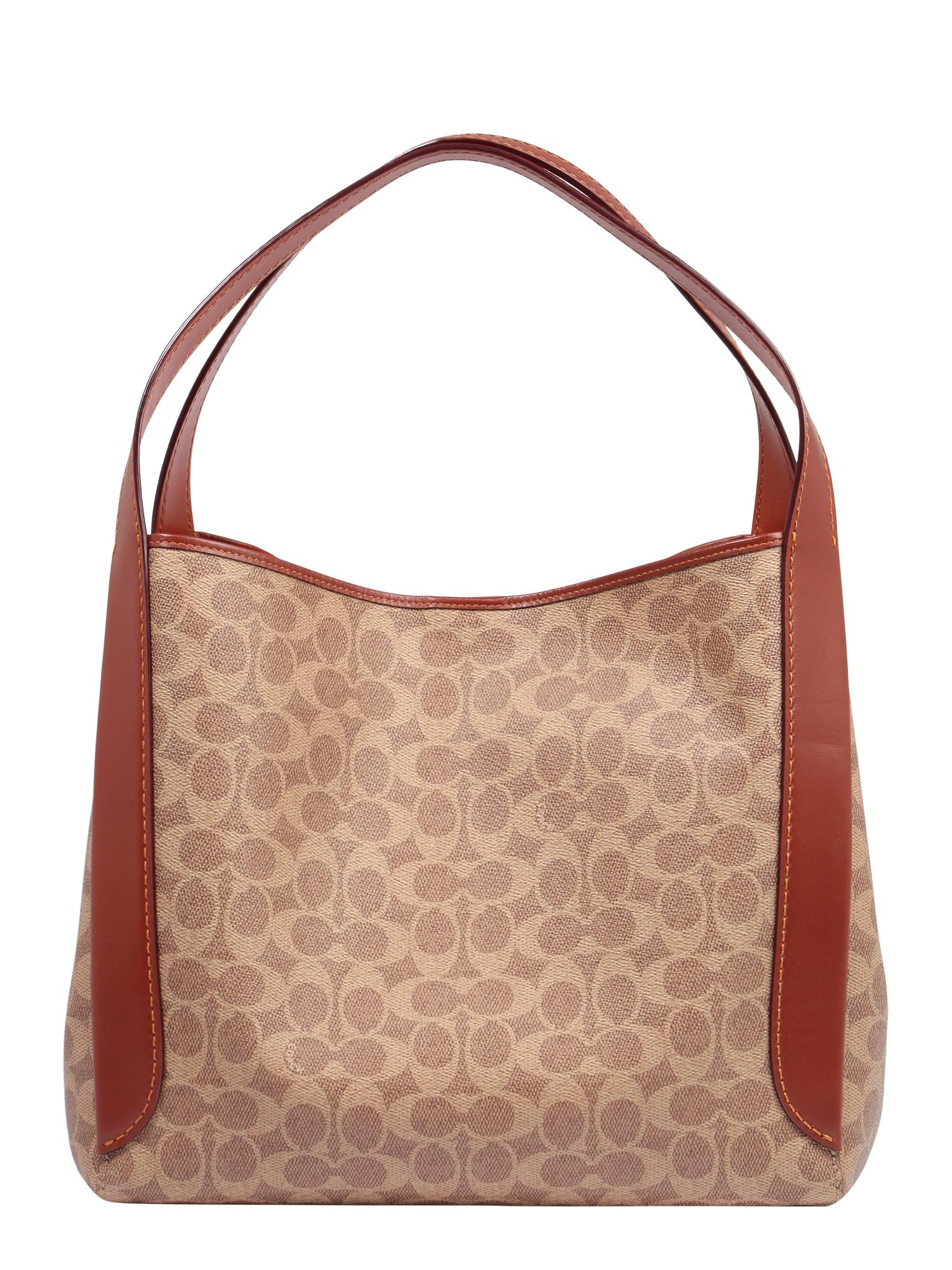 COACH Pirkinių krepšys kūno spalva / rusva / tamsi smėlio