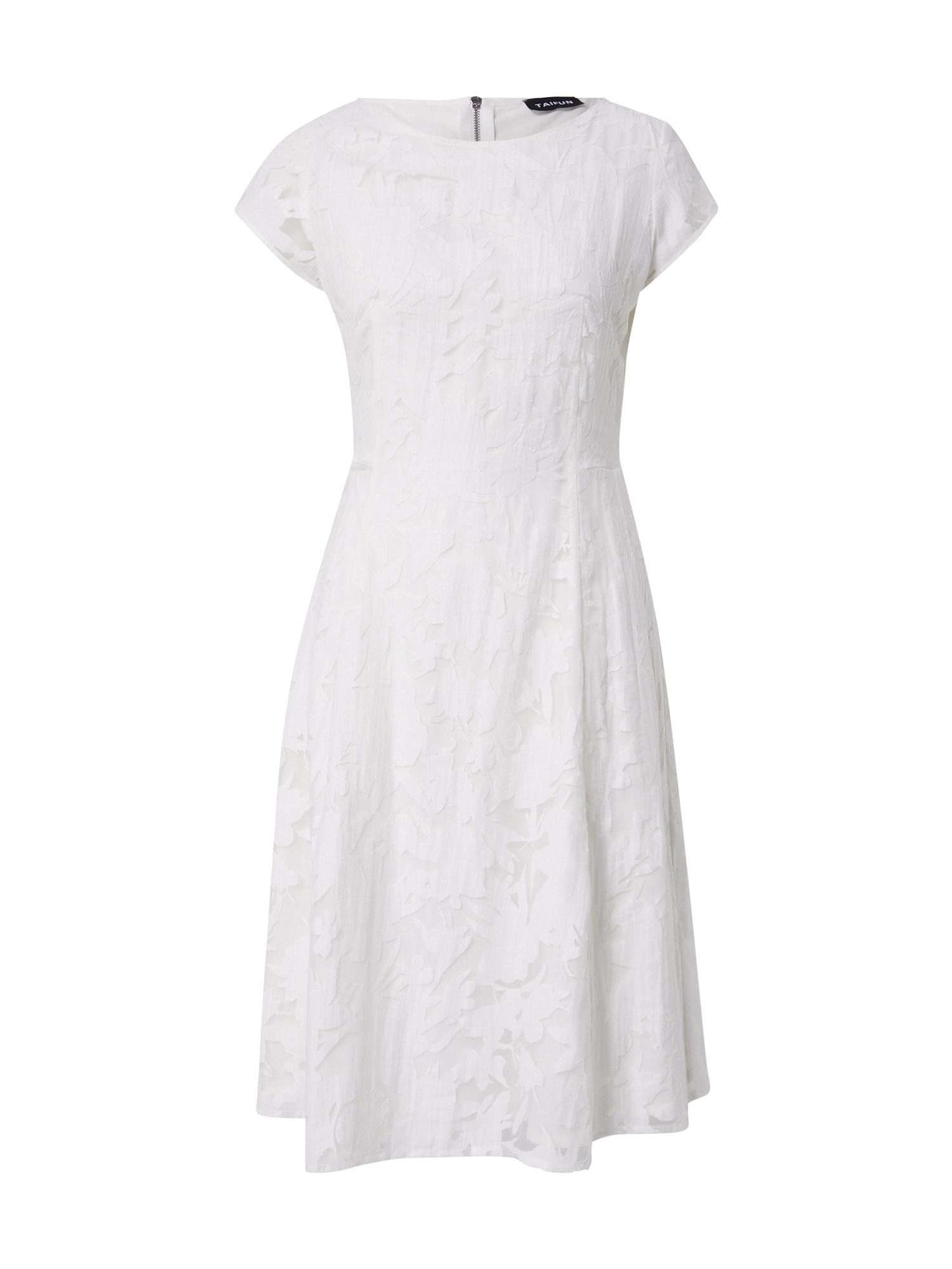 TAIFUN Kokteilinė suknelė balkšva