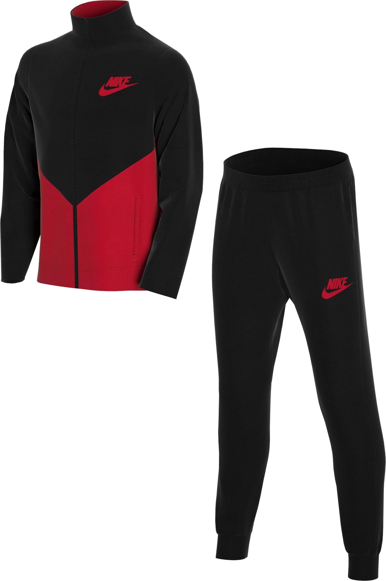 Nike Sportswear Treningas juoda / šviesiai raudona