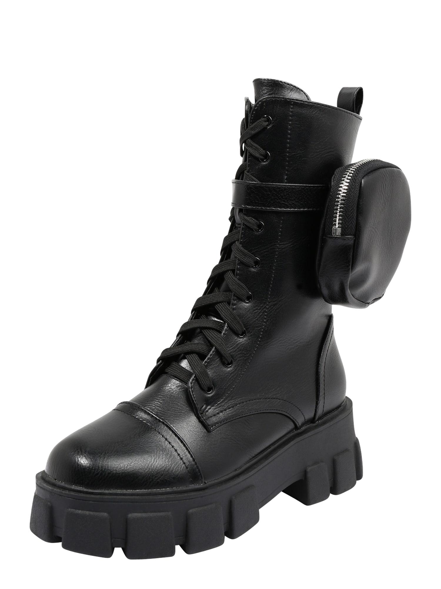 Public Desire Auliniai batai su kulniuku 'Intention' juoda