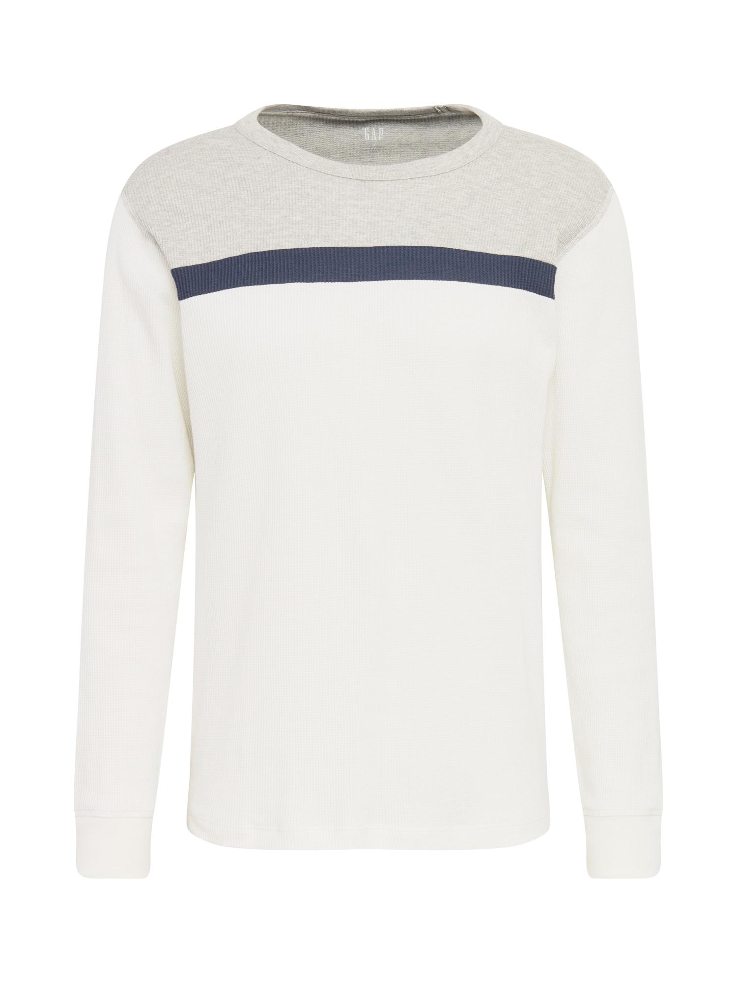 GAP Tričko 'YOKE'  bílá / šedá / námořnická modř