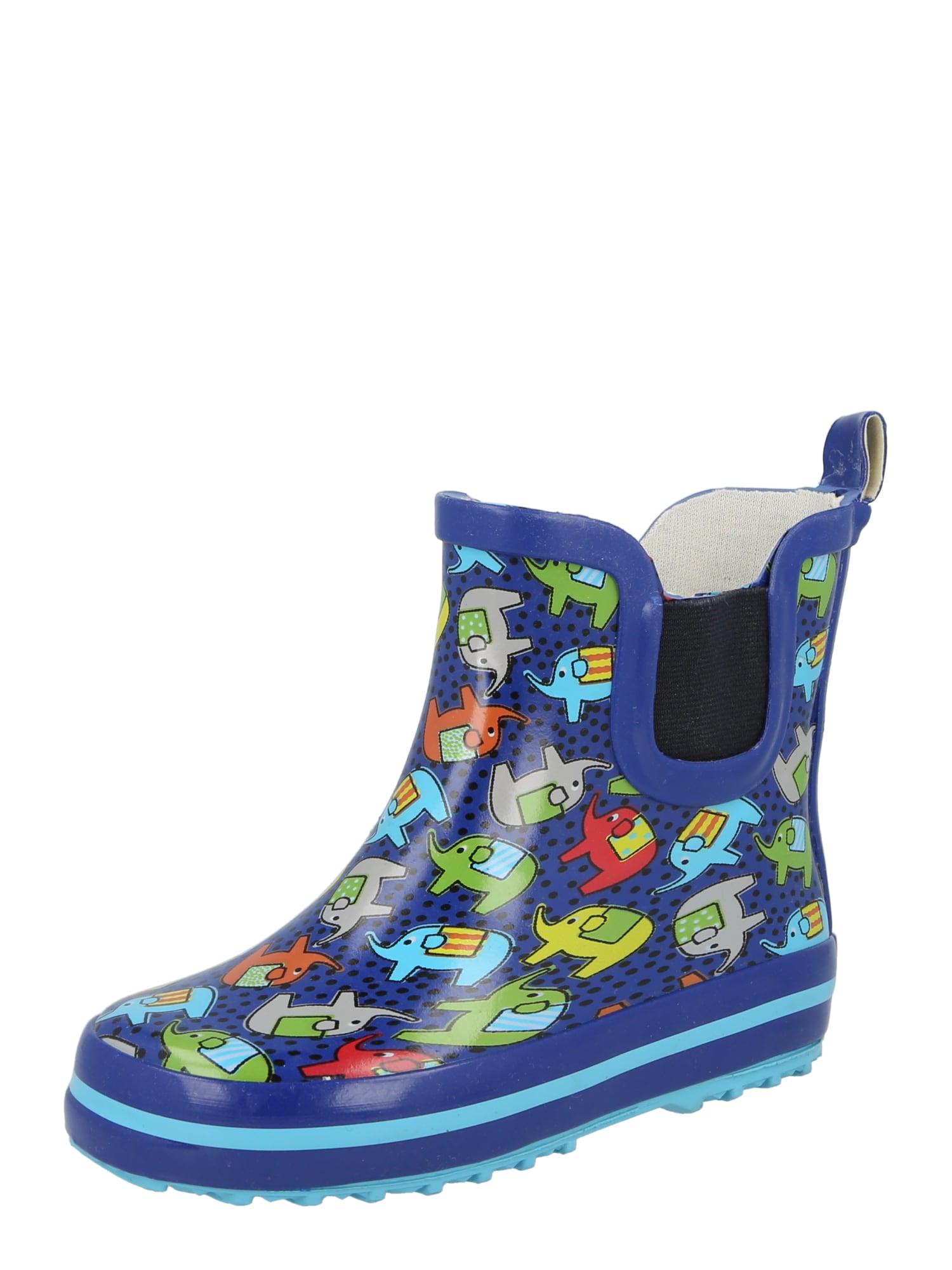 BECK Guminiai batai tamsiai mėlyna / juoda / mišrios spalvos
